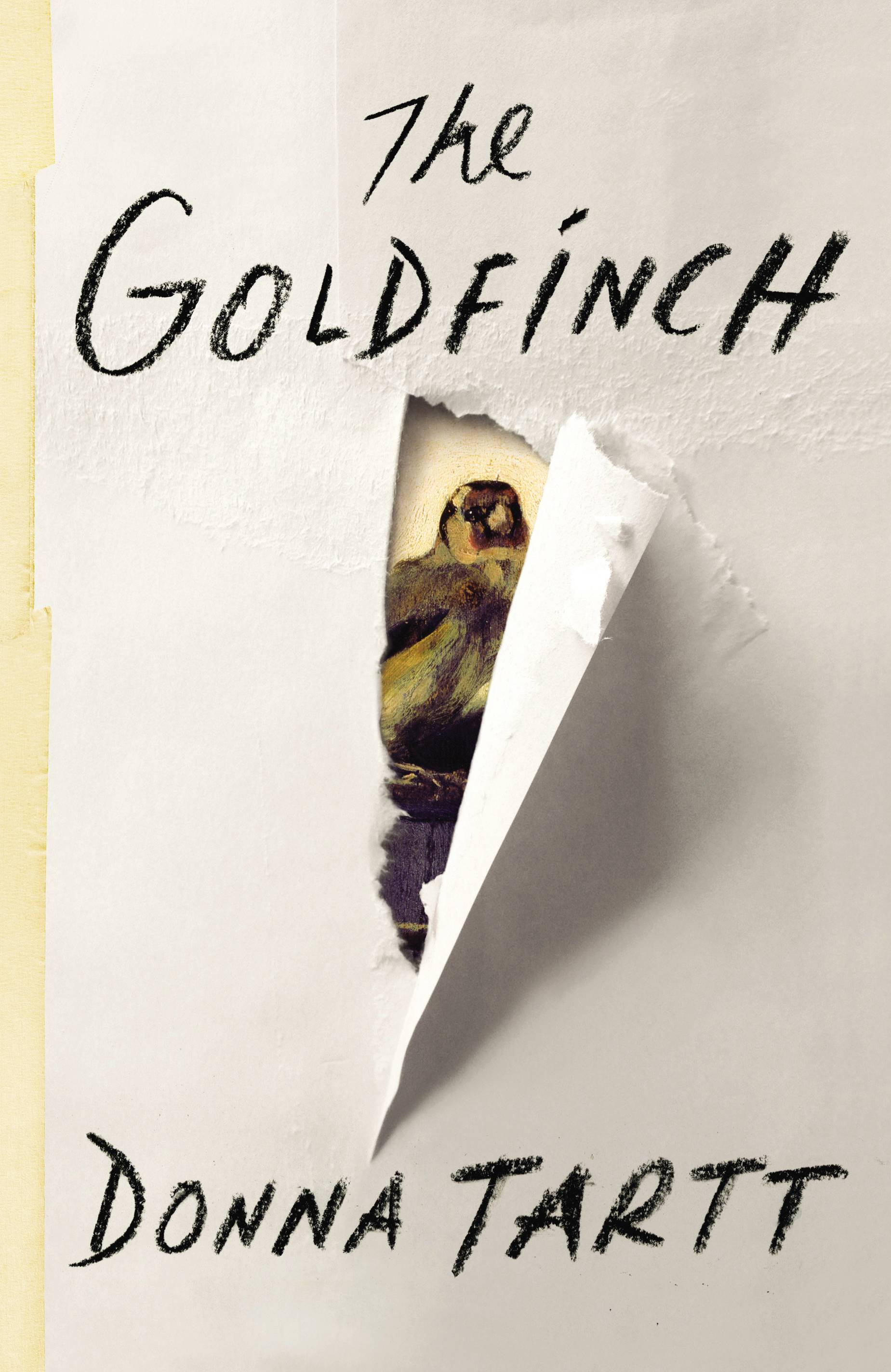 "The book cover of ""The Goldfinch"" by Donna Tartt, winner of the Pulitzer Prize for fiction."