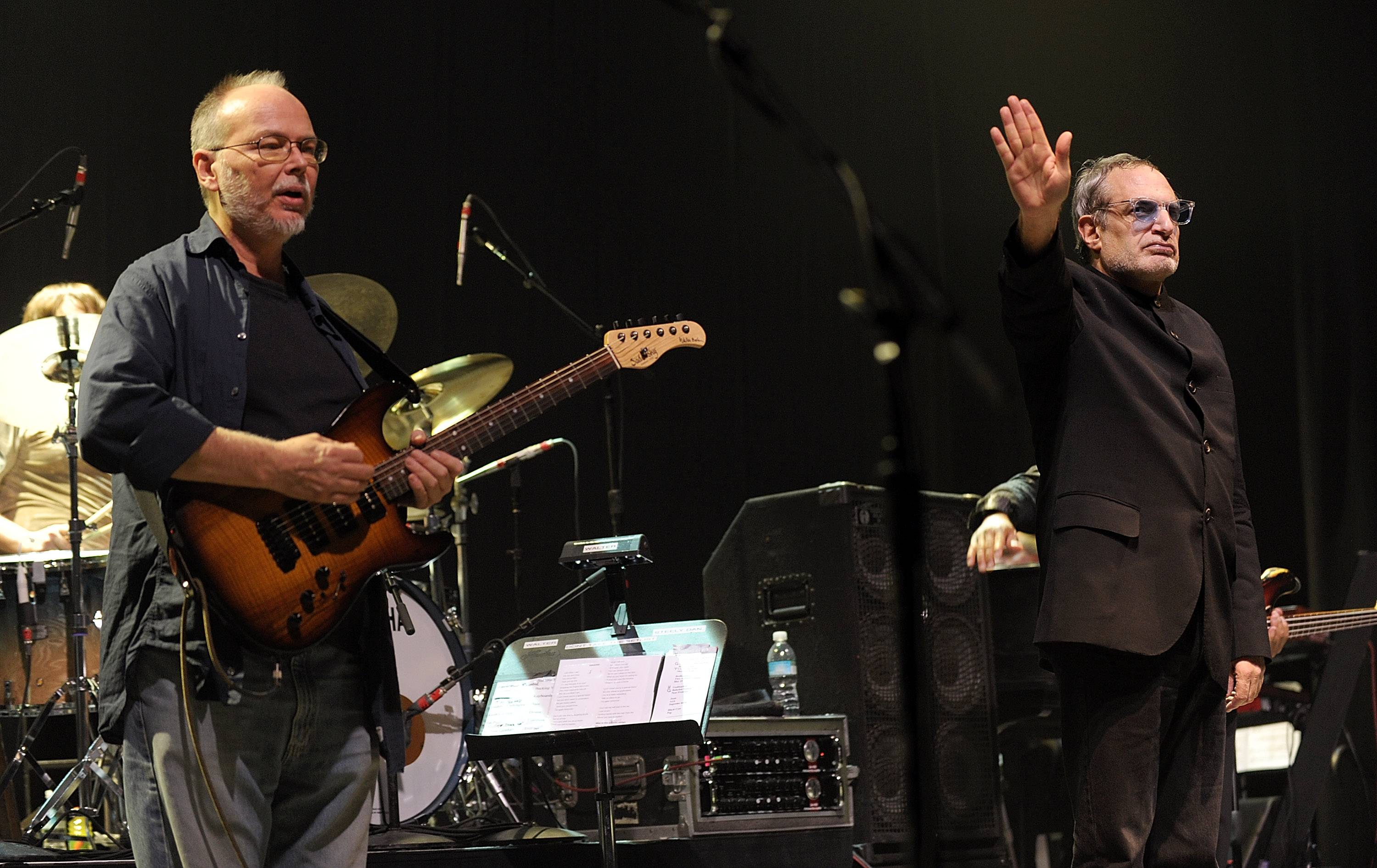 Musicians Walter Becker, left, and Donald Fagen of the band Steely Dan will play at the state fair on Aug. 15.