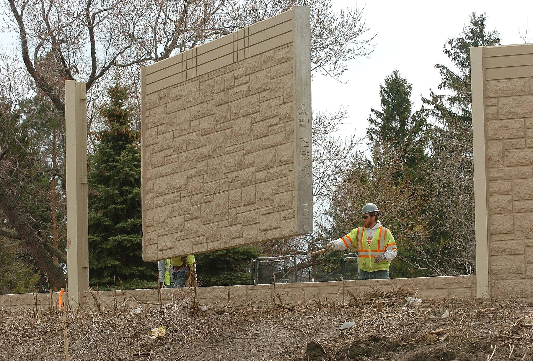 New noise abatement walls go up as part of construction of the I-290 interchange with the Elgin-O'Hare Expressway.