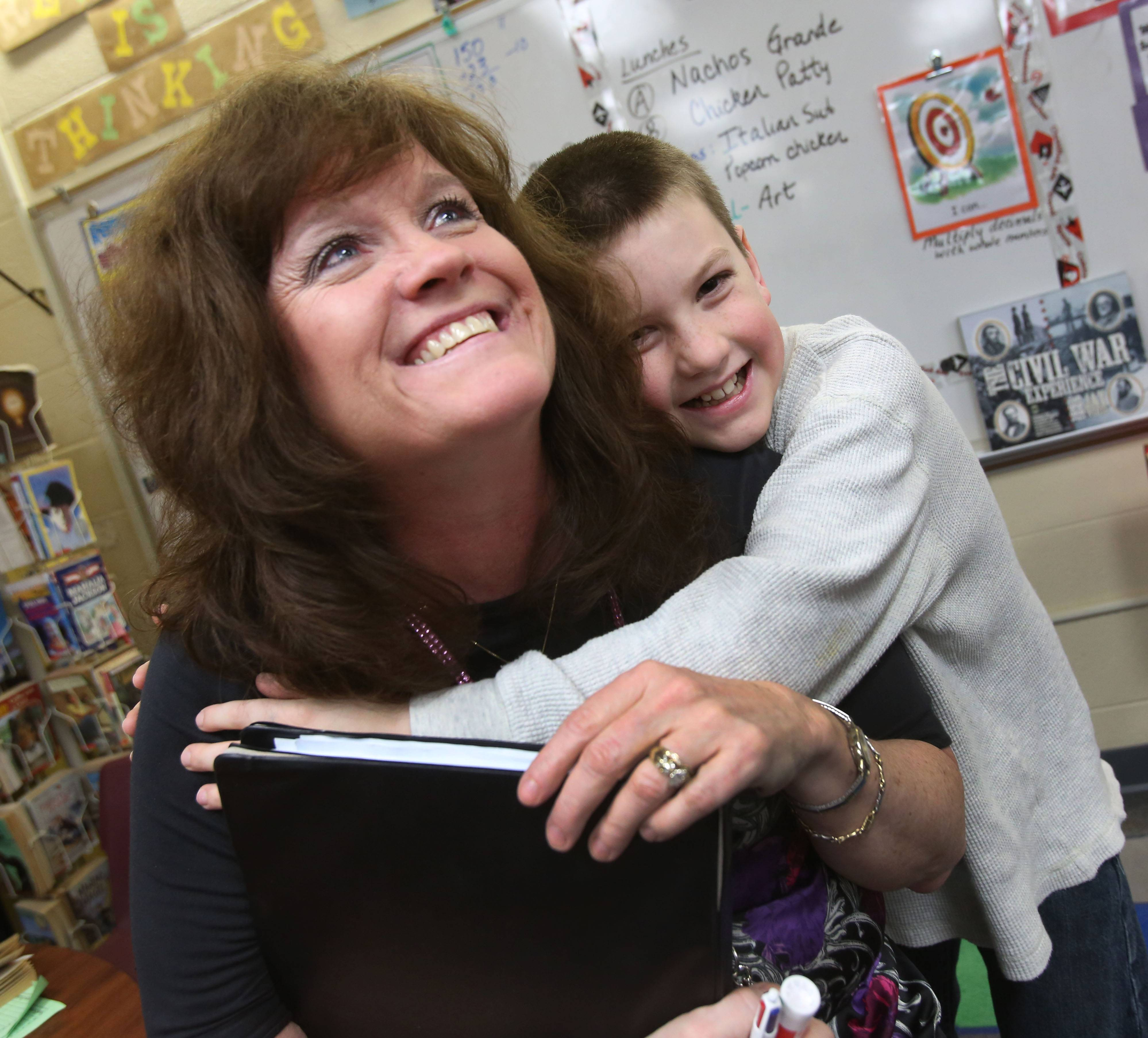 "Jeni Rogers, a fifth-grade teacher at Prairie Elementary School in Naperville, is a serious educator who works first to build an emotional bond with her students. Walk into her classroom, Principal Tracy Dvorchak says, and you'll see kids learning in many different ways but, ""inevitably there's laughter and joy."""