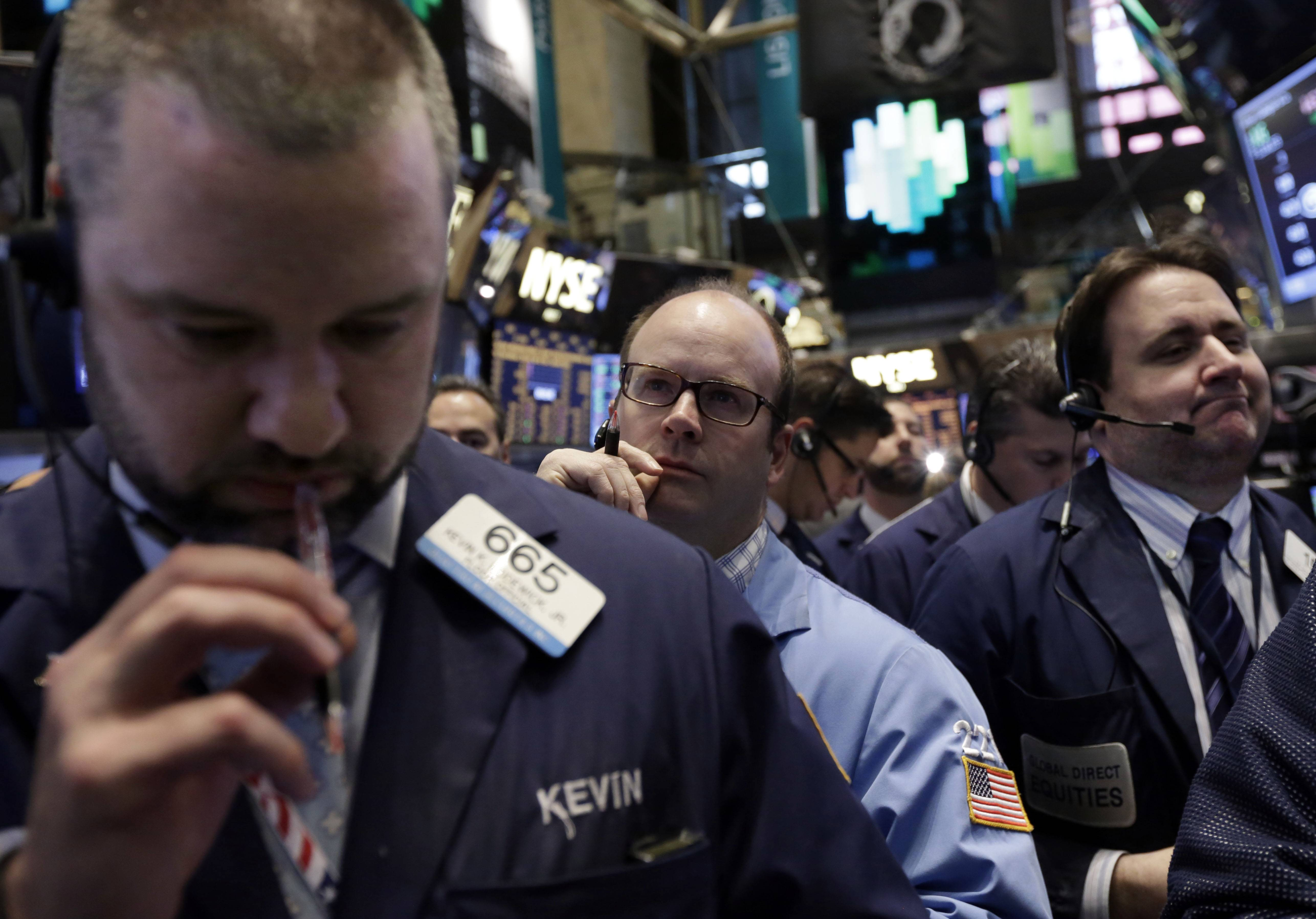 Stocks rose a second day on Tuesday, after equities posted the worst week since 2012, as earnings from Coca-Cola Co. and Johnson & Johnson overwhelmed concerns that tensions in Ukraine are worsening.