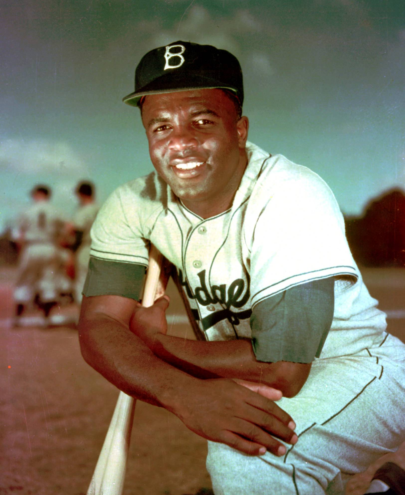 The Brooklyn Dodgers' Jackie Robinson poses in this 1952 file photo. It was Jackie Robinson Day on Tuesday in the major leagues, the 67th anniversary marking the end of the game's racial barrier.