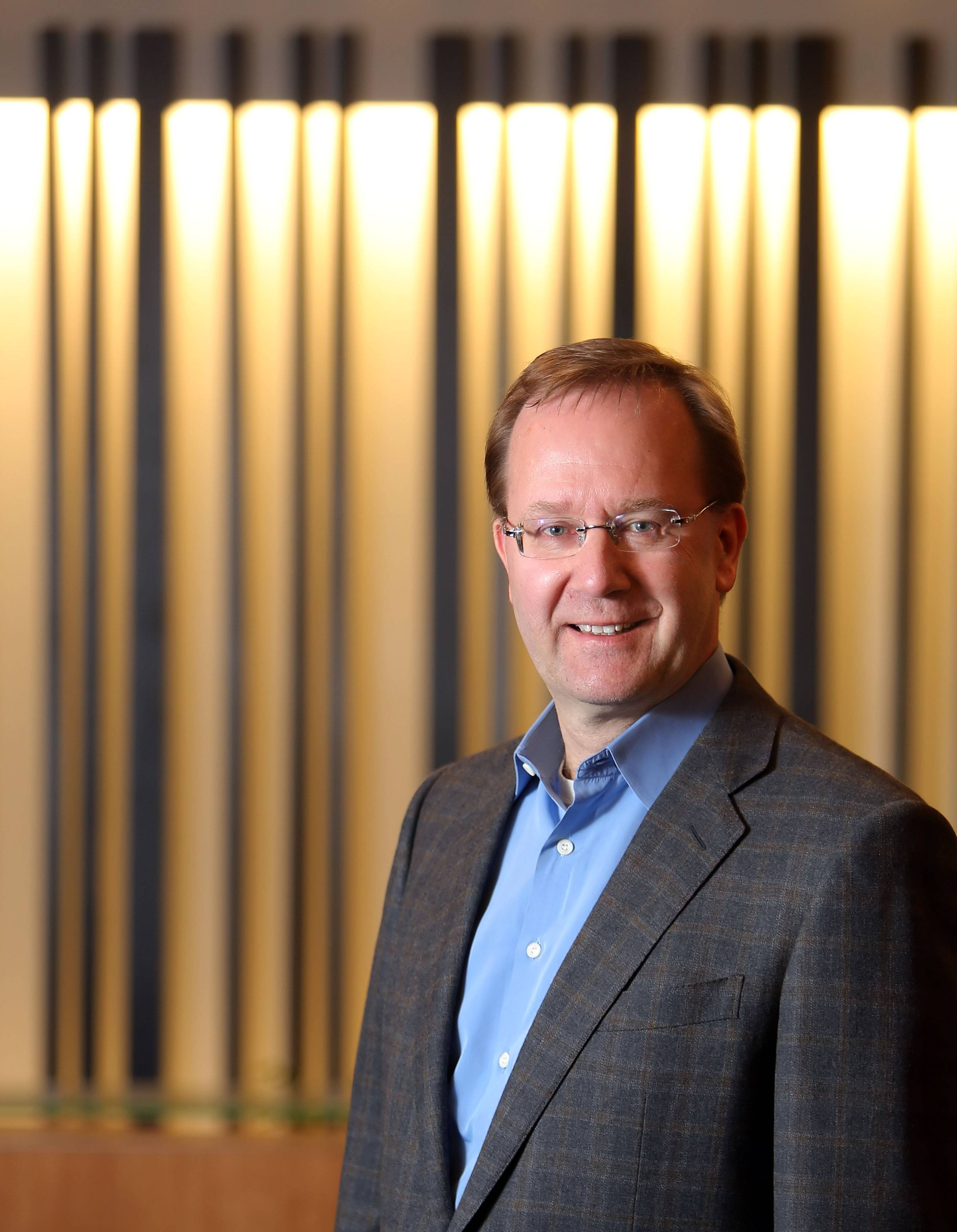Anders Gustafsson, CEO of Zebra Technologies in Lincolnshire.