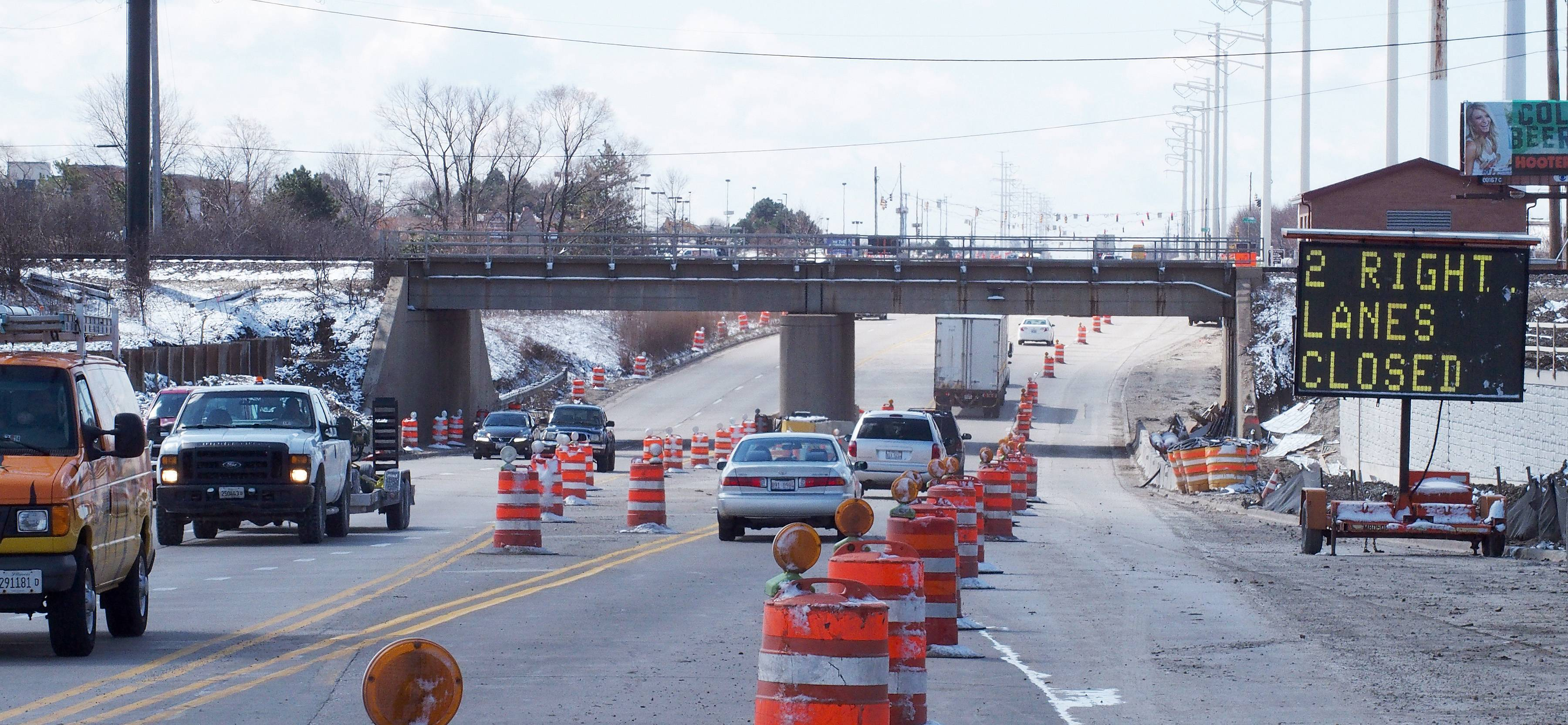 The second season of construction on Route 59 in Naperville and Aurora will begin Monday when traffic is reduced to one lane in each direction under the BNSF railroad tracks between North Aurora Road and Glacier Park Avenue/Meridian parkway. The closure is expected to be in place until fall.