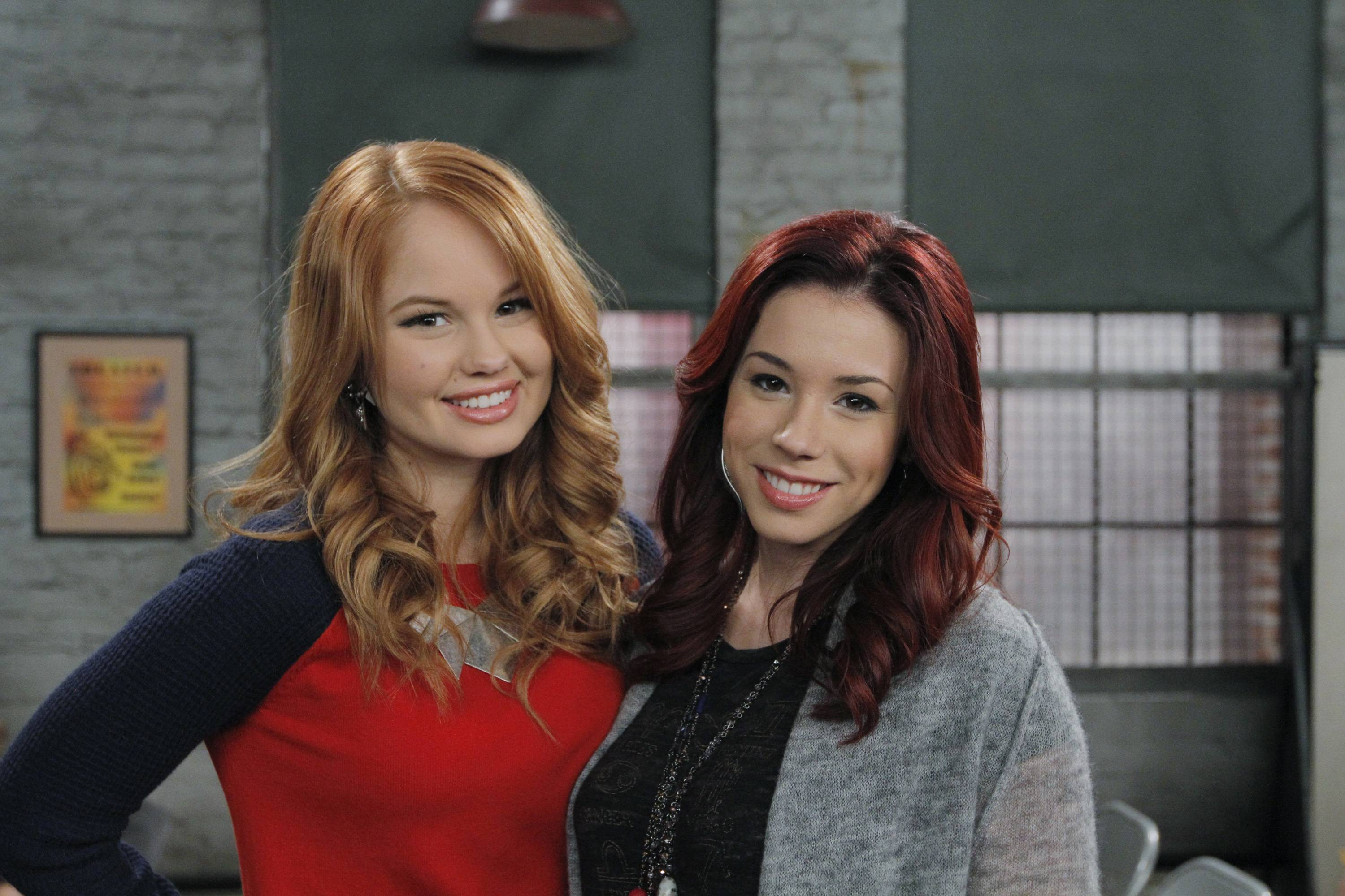 "Debby Ryan, left, and Jillian Rose Reed star in ""Acting With the Frenemy,"" a new episode of ""Jessie,"" that airs Friday, April 27, on the Disney Channel."
