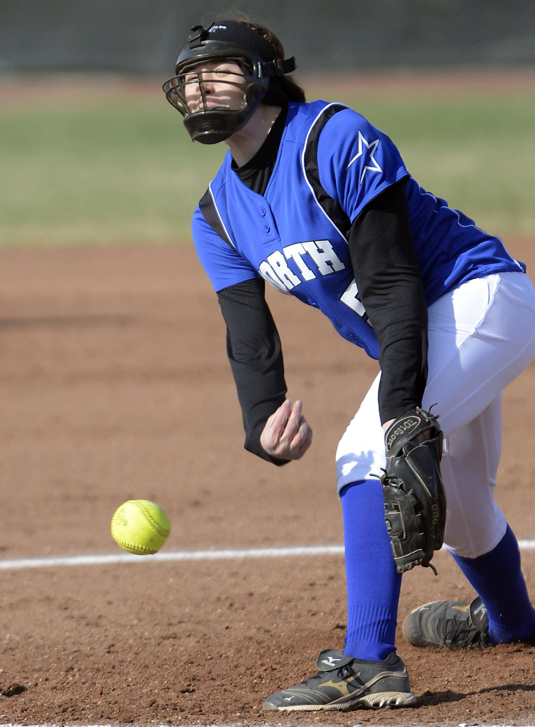 St. Charles North pitcher Sabrina Rabin against Bartlett Wednesday in Bartlett.