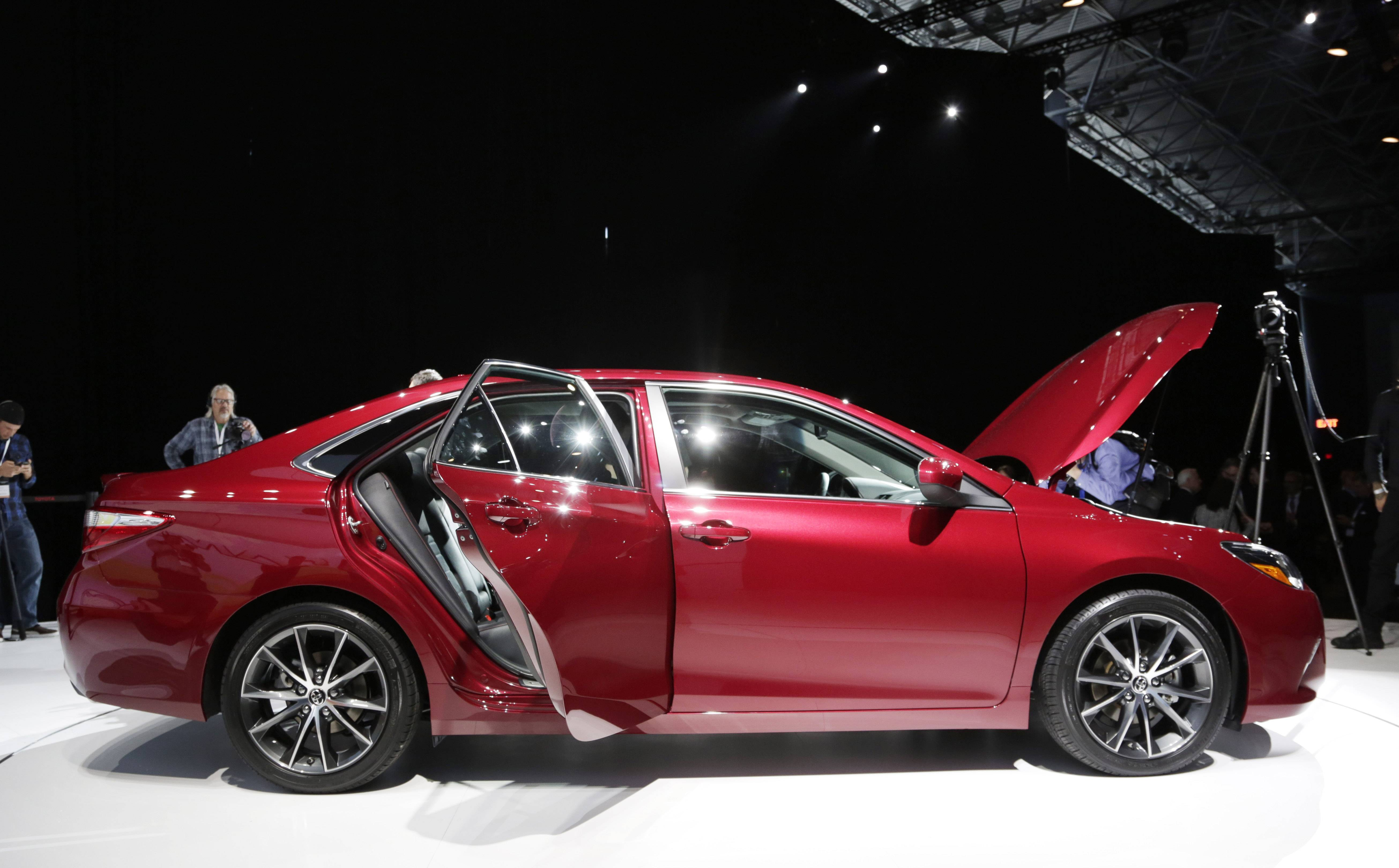 The 2015 Toyota Camry was unveiled at the New York International Auto Show, Wednesday, April 16, 2014, in New York.