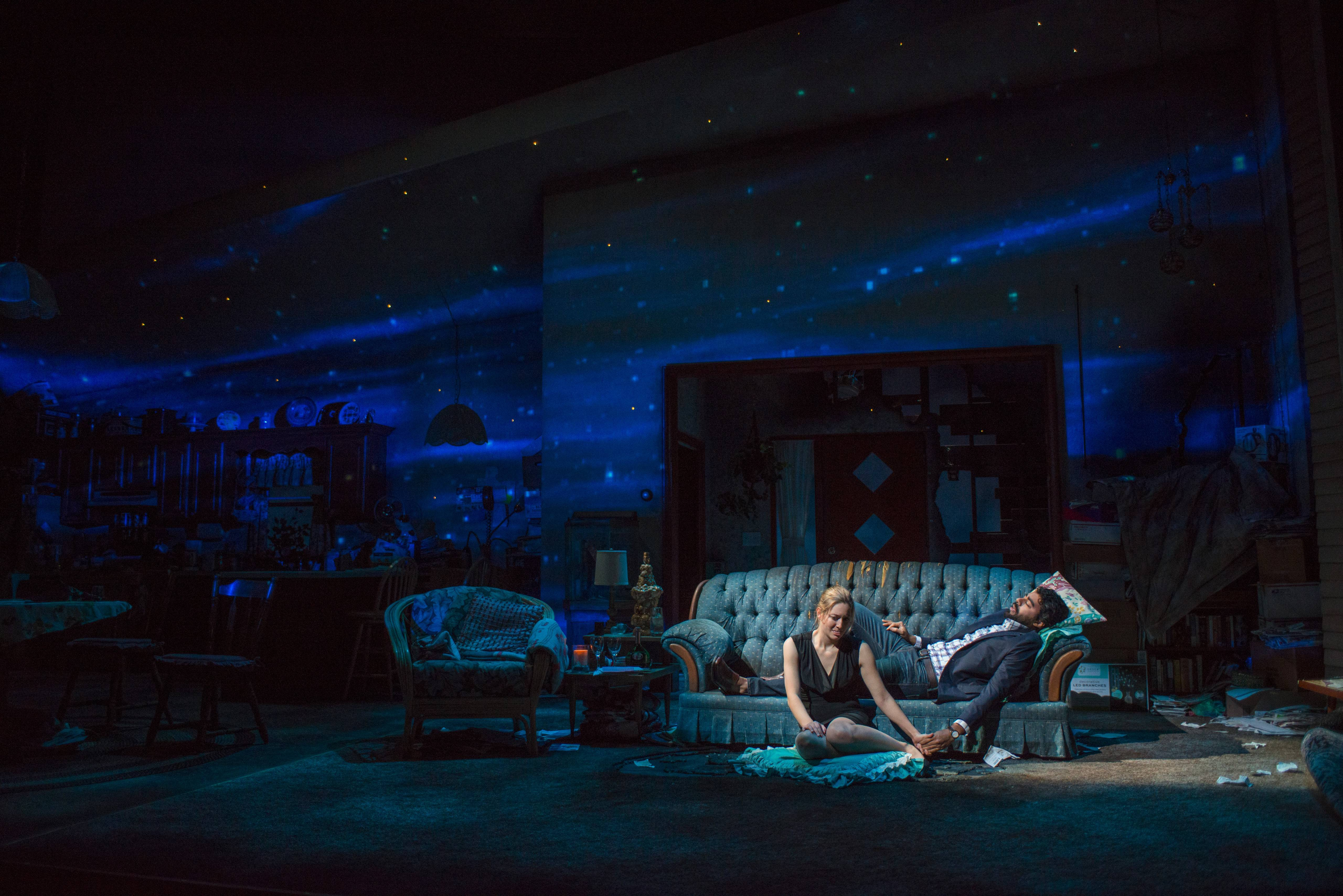 "While her family's finances crumble, Manda (Zoe Perry) attempts to reconnect with her former boyfriend Manny (Gabriel Ruiz) in Steppenwolf Theatre's production of Mona Mansour's ""The Way West,"" directed by ensemble member Amy Morton."