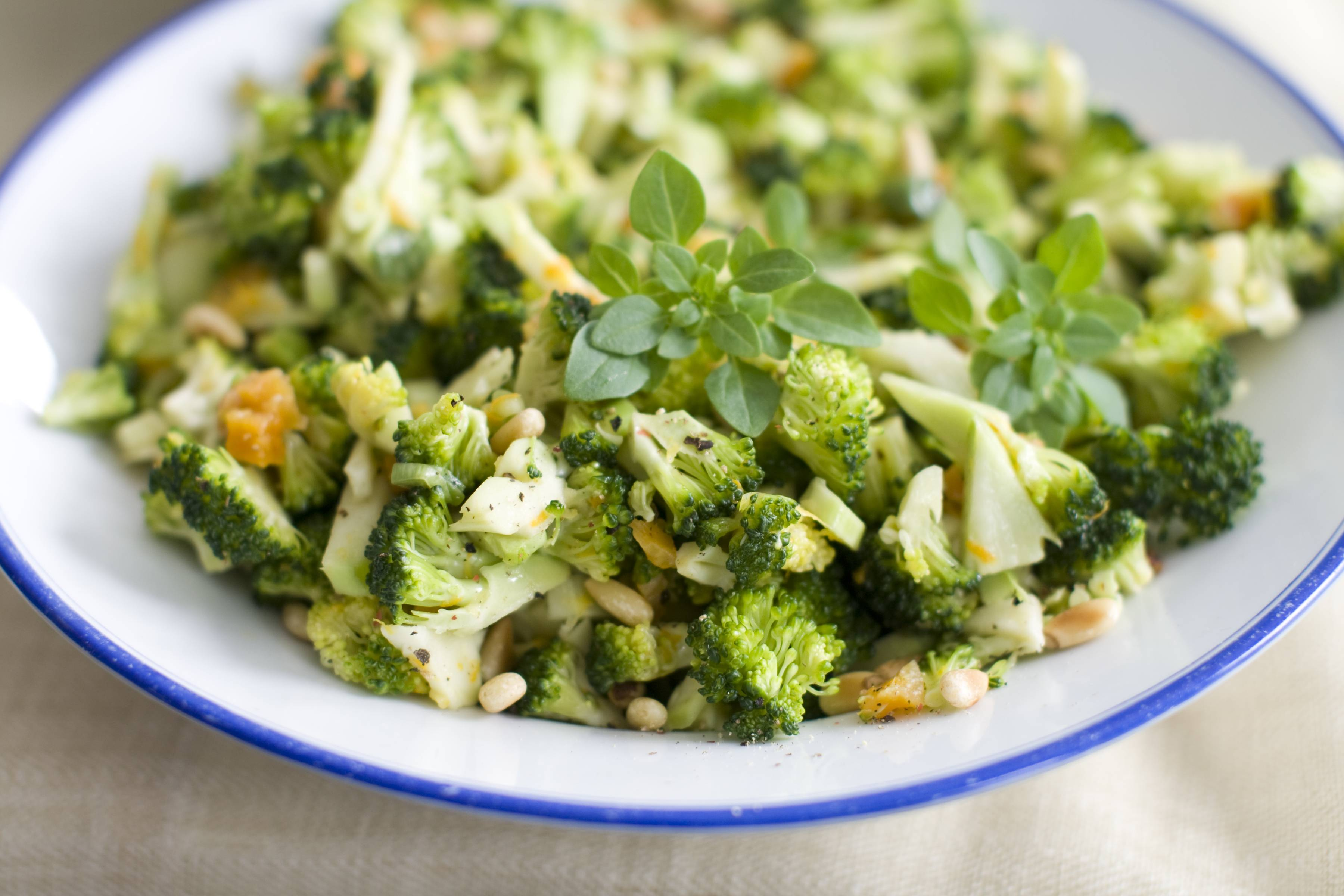 Welcome Citrus Pinenut Broccoli Slaw to the Easter table.