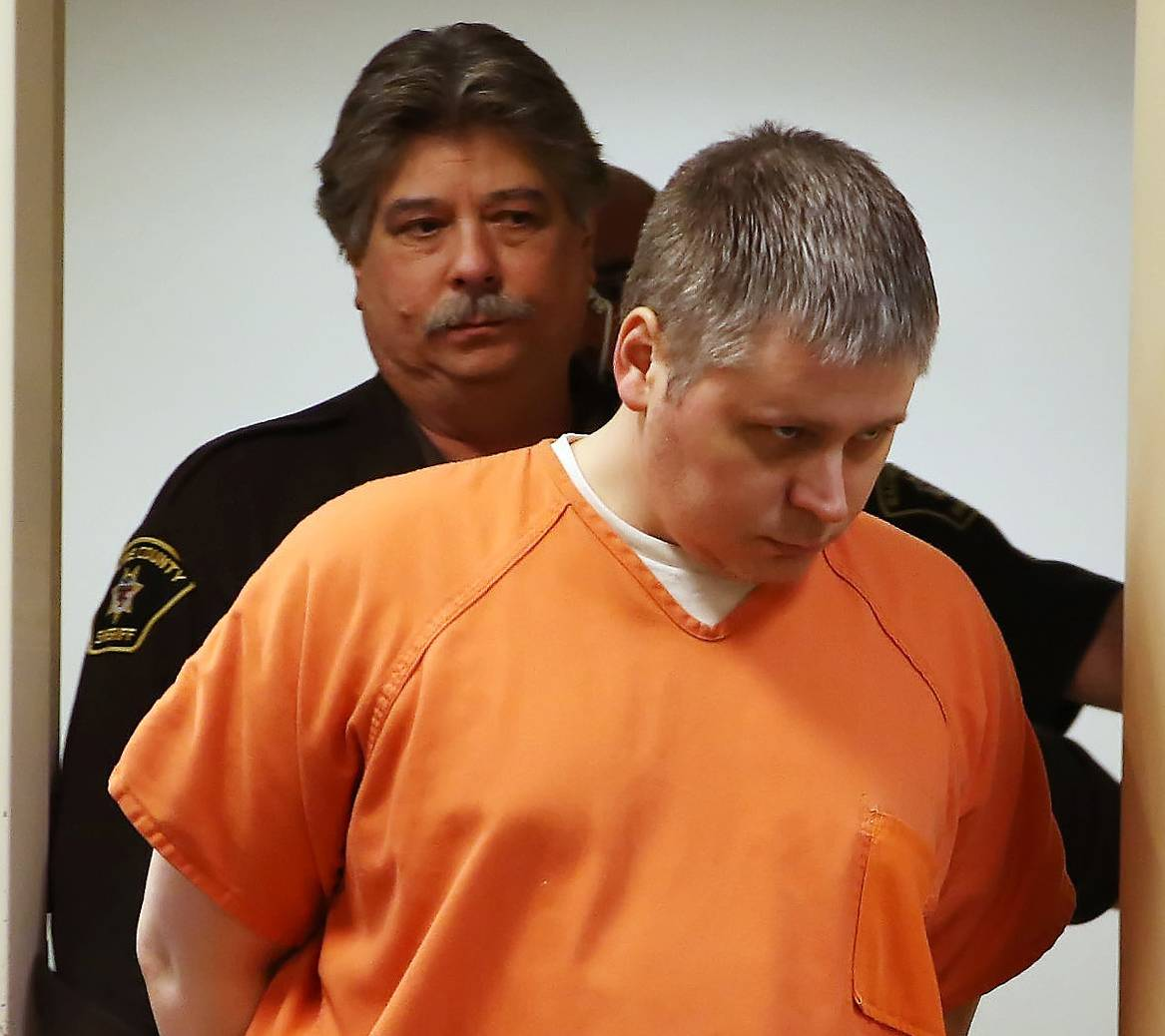 James P. Eaton, shown during a court appearance earlier this month, was ordered held over for trial Wednesday after a Wisconsin judge heard evidence linking him to the 1997 murder of Palatine teen Amber Creek.