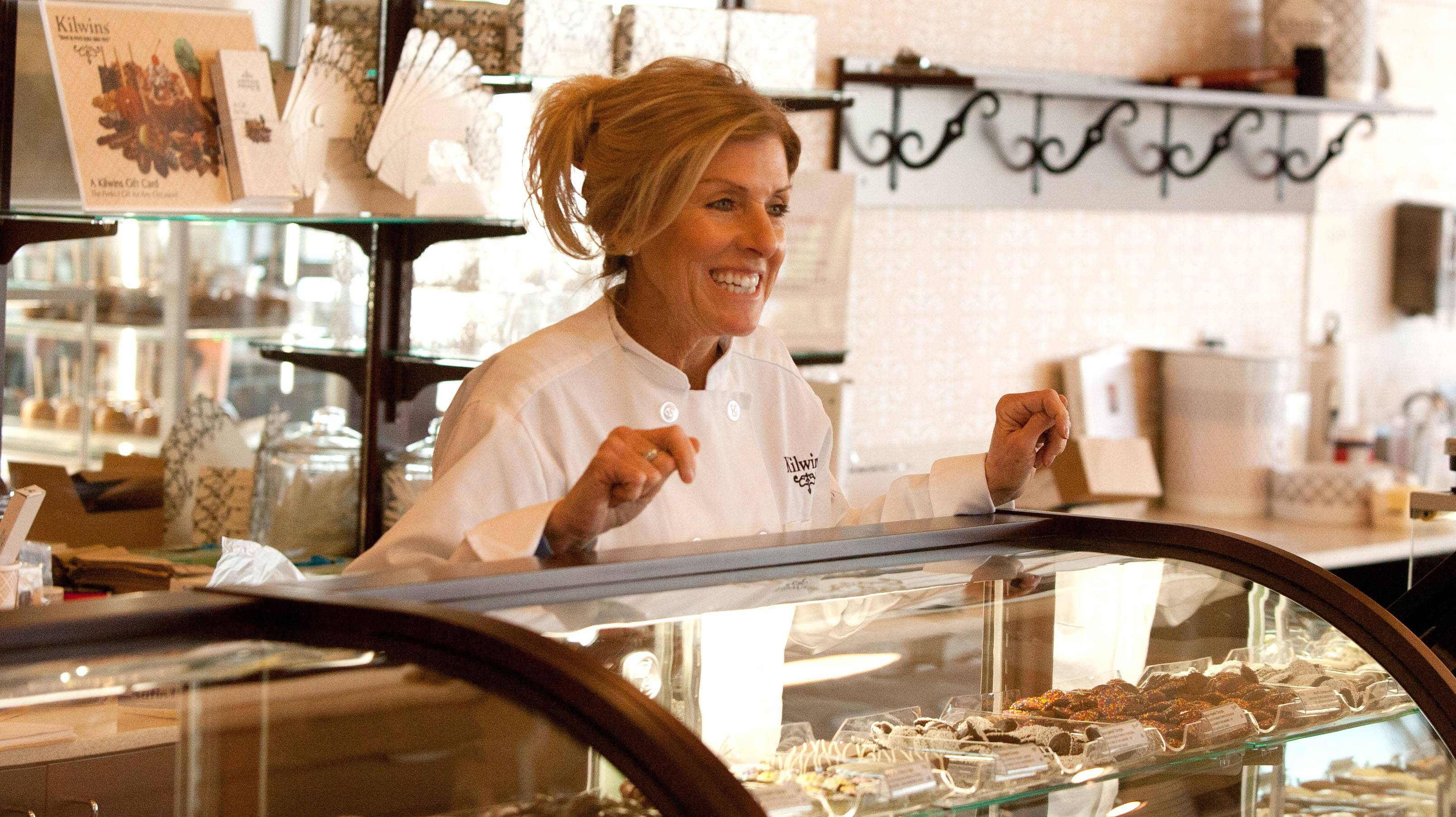 Maribeth Barrett is the owner of the new Kilwins Chocolate and Ice Cream store in downtown Wheaton.