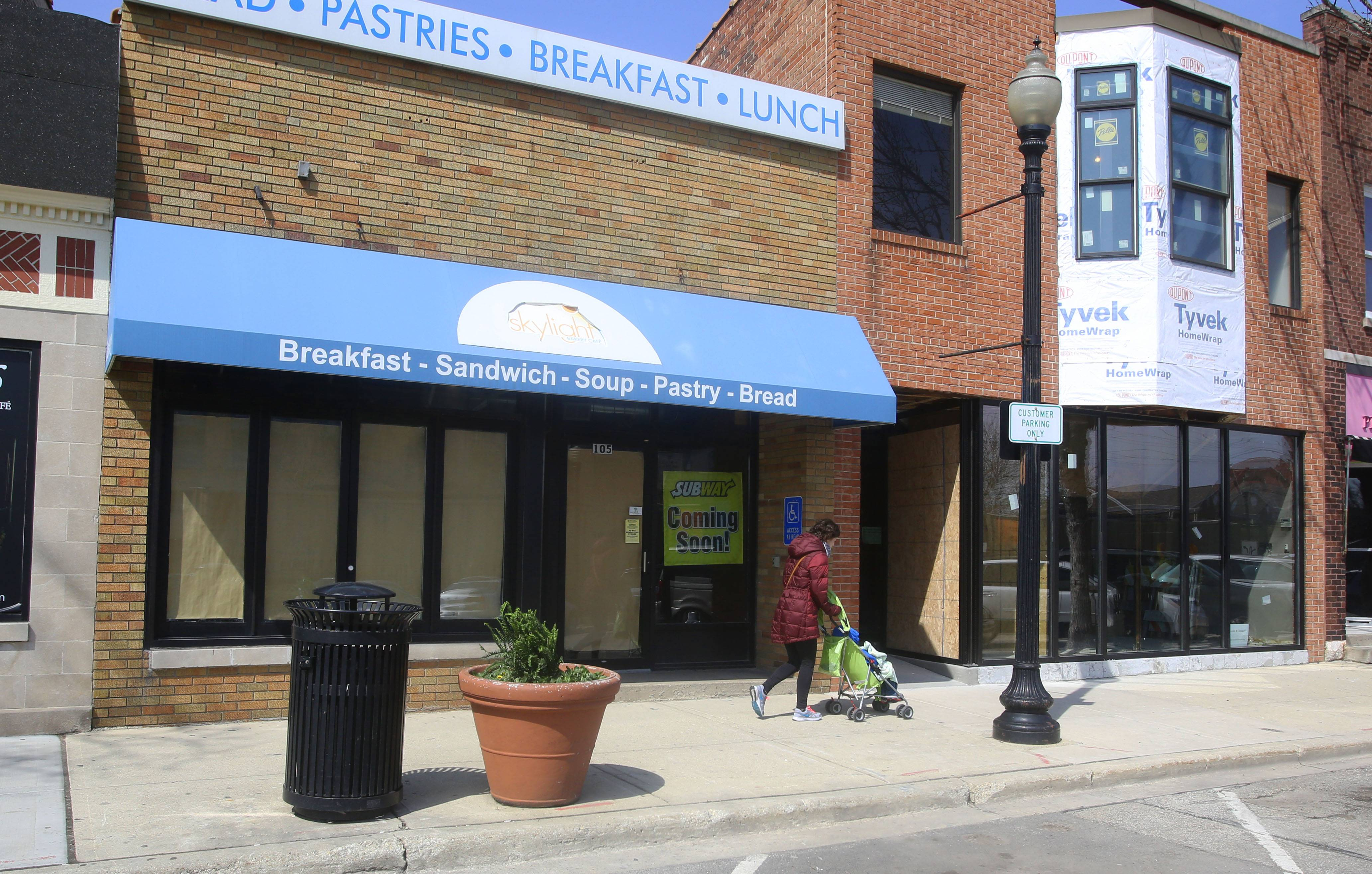 A new Subway is expected to open at 105 E. Front Street, left, and an educational toy store called Moore's Toys & Gadgets plans to open by June at 107 E. Front Street in downtown Wheaton.
