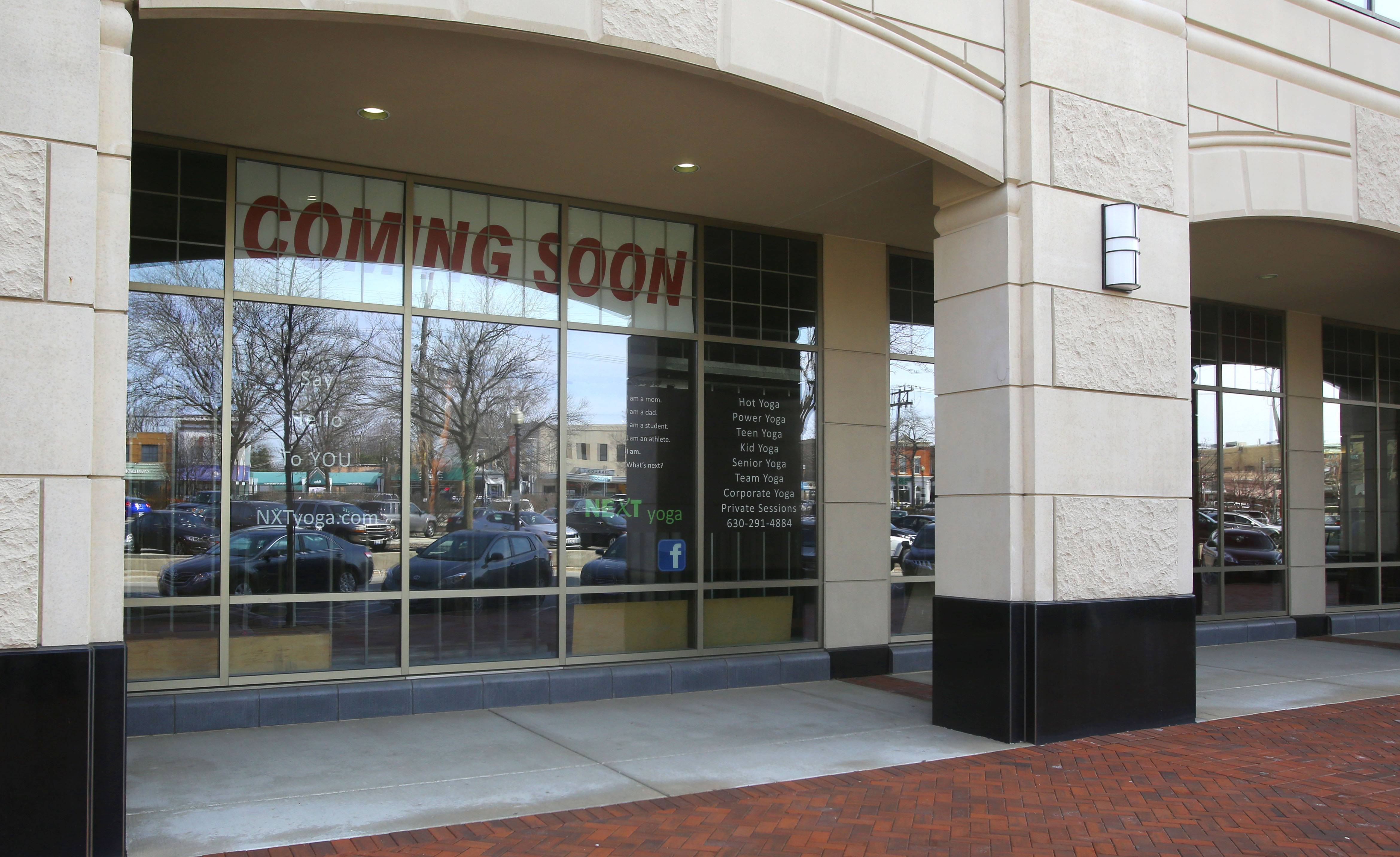 A new yoga studio and pizza place are expected to open soon at 120 E. Liberty St. in downtown Wheaton.