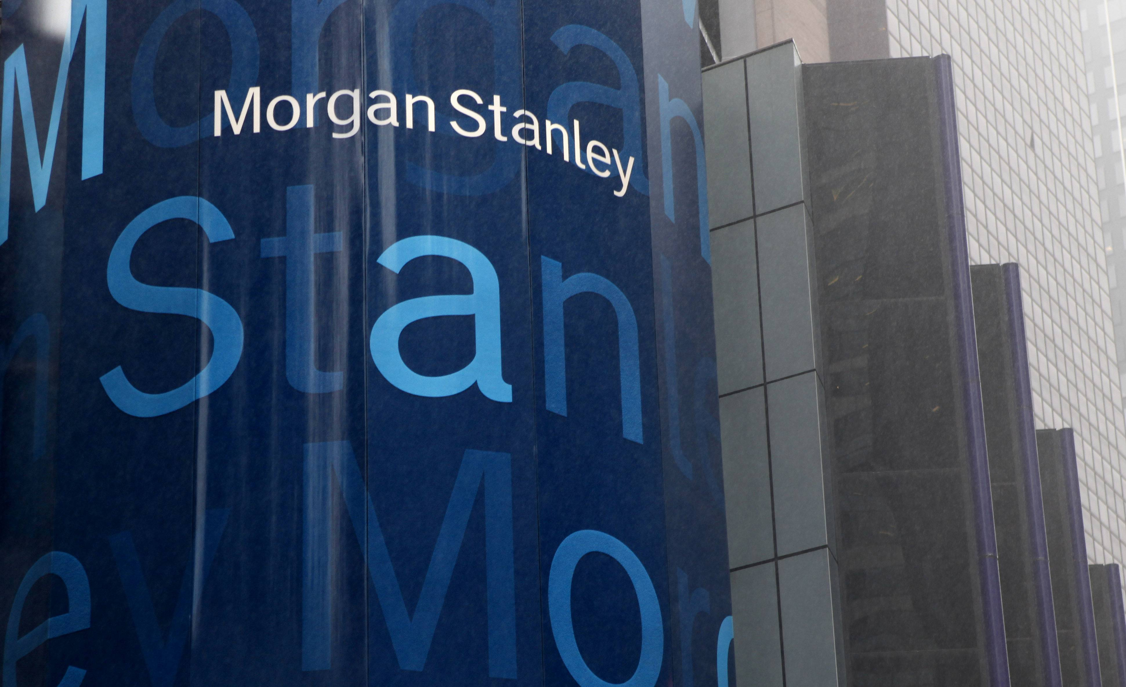 Investment bank Morgan Stanley said Thursday that its first-quarter income rose 18 percent from a year ago, helped by higher earnings in its trading and merger and acquisitions advisory businesses.