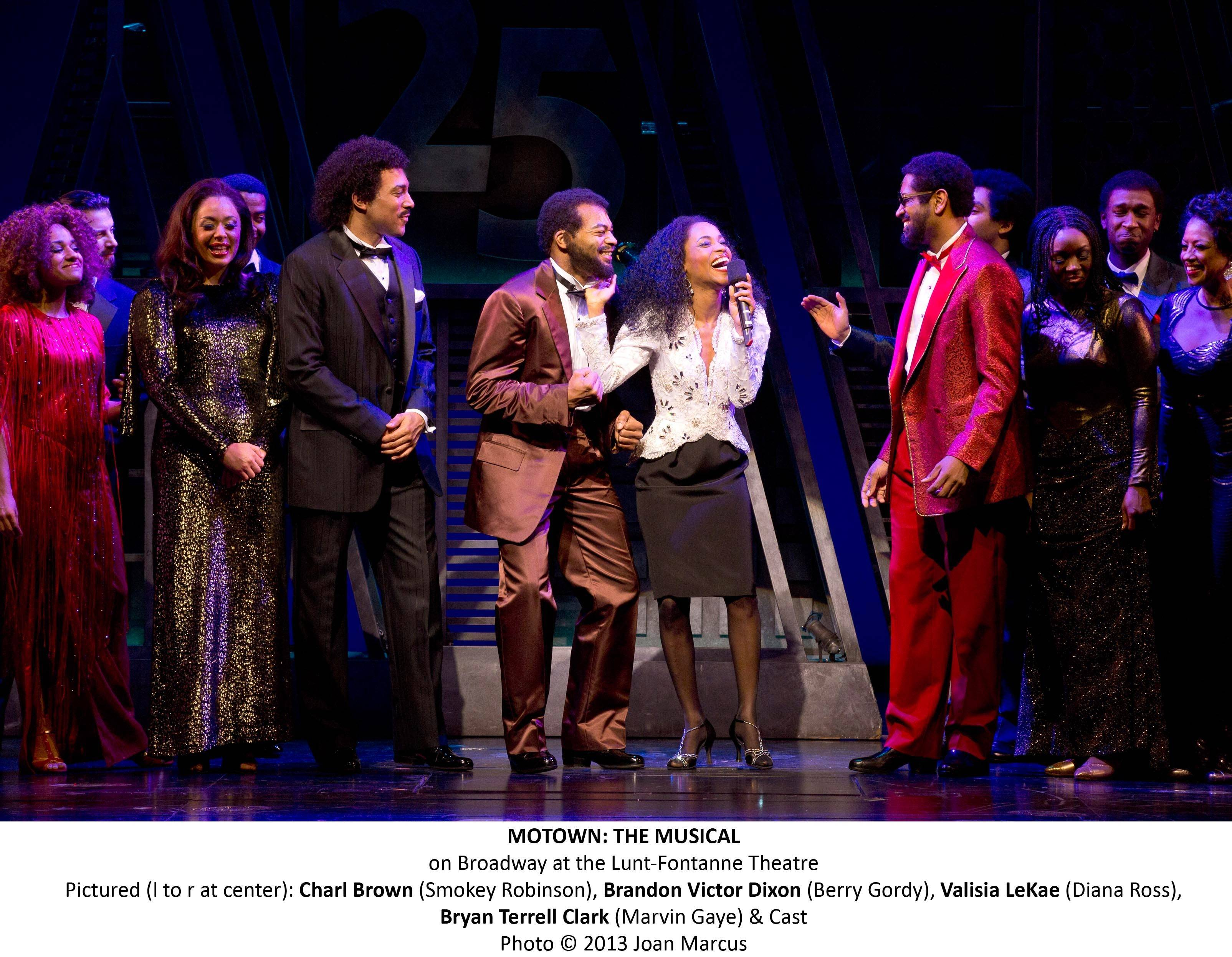 "Charl Brown, Brandon Victor Dixon, Valisia LeKae and Bryan Terrell Clark starred in the 2013 Broadway production of ""Motown The Musical."" The national tour of the show launches in Chicago at the Oriental Theatre for a 12-week run starting Tuesday, April 22."