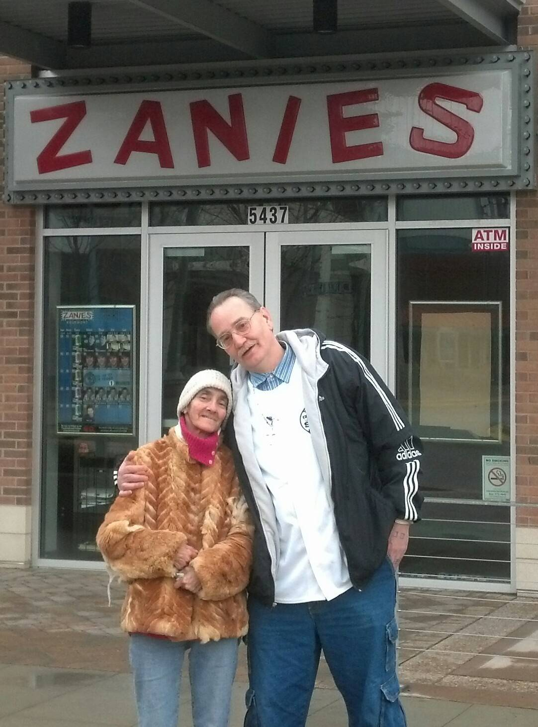A benefit at Zanies Comedy Night Club in Rosemont raised more than $7,000 for Michael Masalski and Marjorie Branly. Living in a mobile home damaged by flooding a year ago, the couple give thanks for volunteers, who are working to buy them a new home.