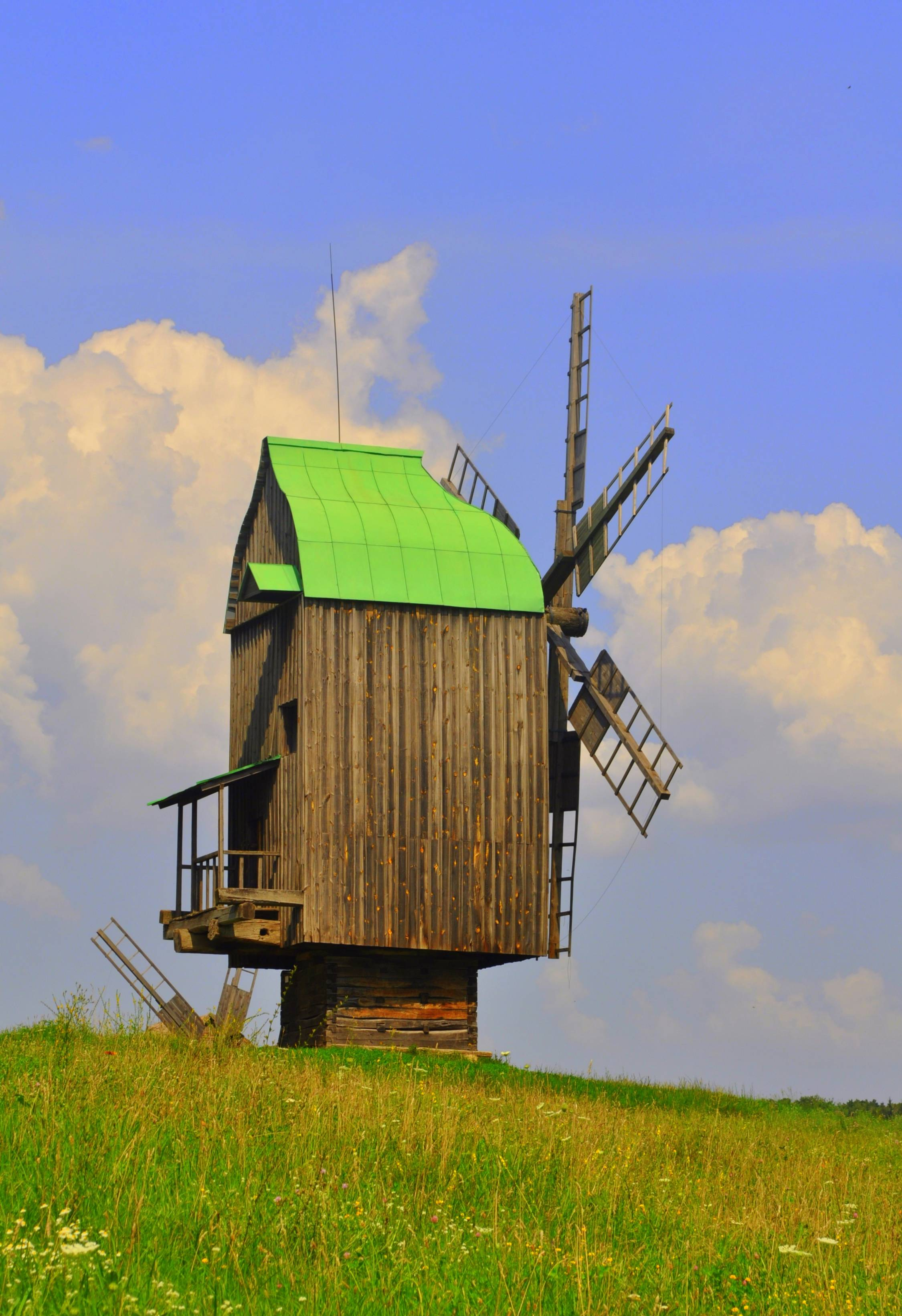 During his time in Ukraine, Peace Corps volunteer Mike Dixon of St. Charles took this photo of the Podolian region windmill at the Pirogov Museum of Folk Architecture and Customs in Kyiv (Kiev).