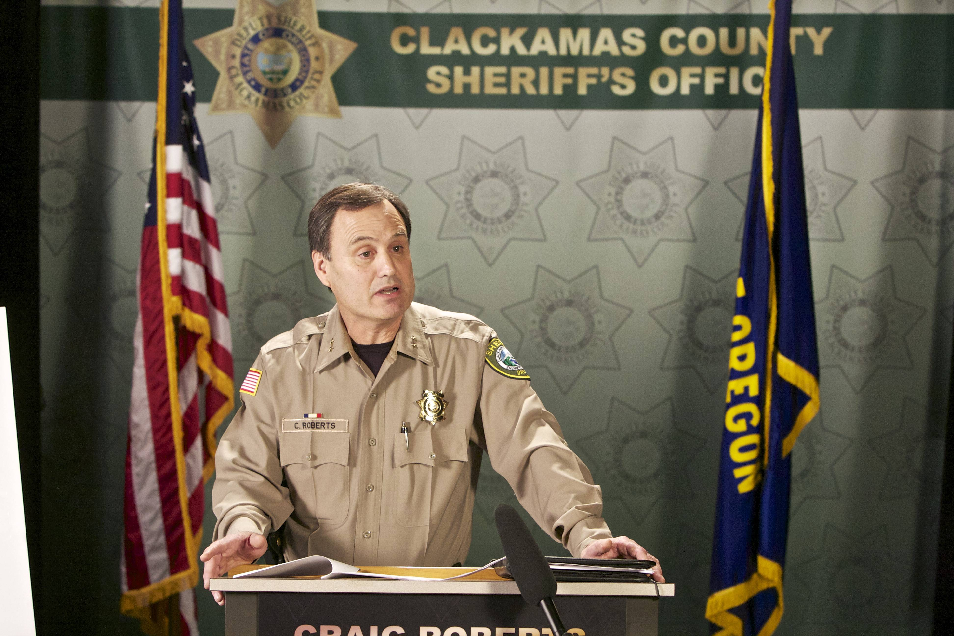 Clackamas County Sheriff Craig Roberts. A federal judge has ruled that Clackamas County in Oregon violated an immigrant woman's constitutional rights by holding her in jail for two weeks at the request of U.S. Immigration and Customs Enforcement, so that the agency could investigate whether she is subject to deportation.