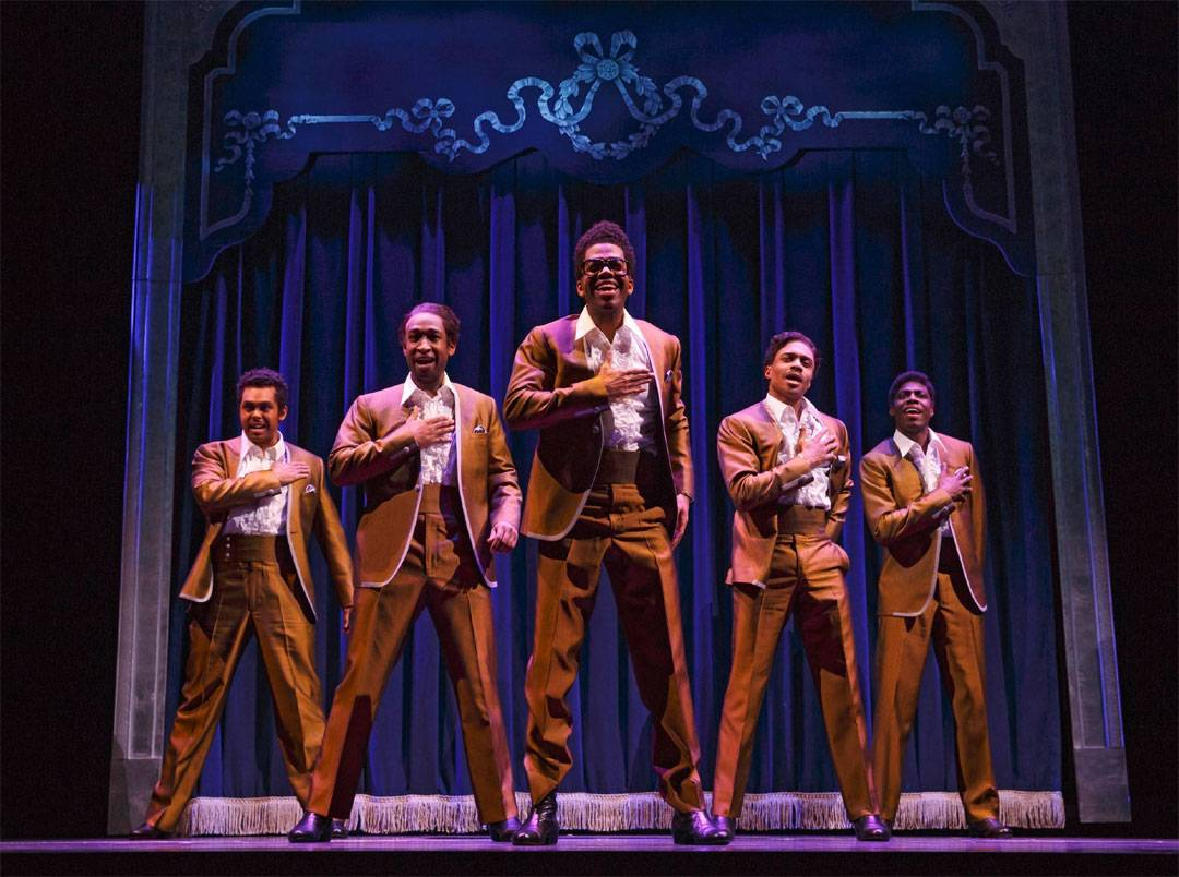 "Jesse Nager, Donald Webber, Jr., Julius Thomas III, Ephraim M. Sykes and Jawan M. Jackson starred as The Temptations in the 2013 Broadway production of ""Motown The Musical."" The national tour of the show launches in Chicago at the Oriental Theatre for a 12-week run starting Tuesday, April 22."