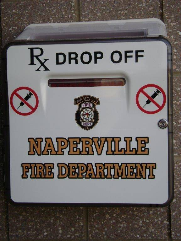 Prescription drug take-back boxes will be available outside Naperville's 10 fire stations and inside the lobby of police headquarters beginning Tuesday. The boxes will accept prescription medications other than needles or syringes.