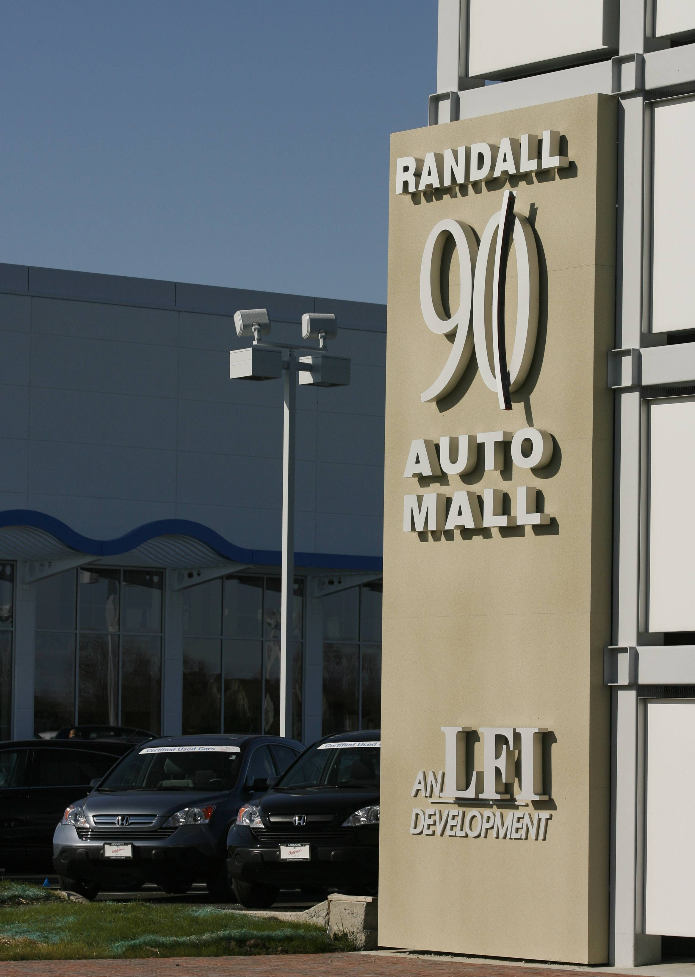 The auto mall at Randall Road and Interstate 90 in Elgin only has one dealership so far.