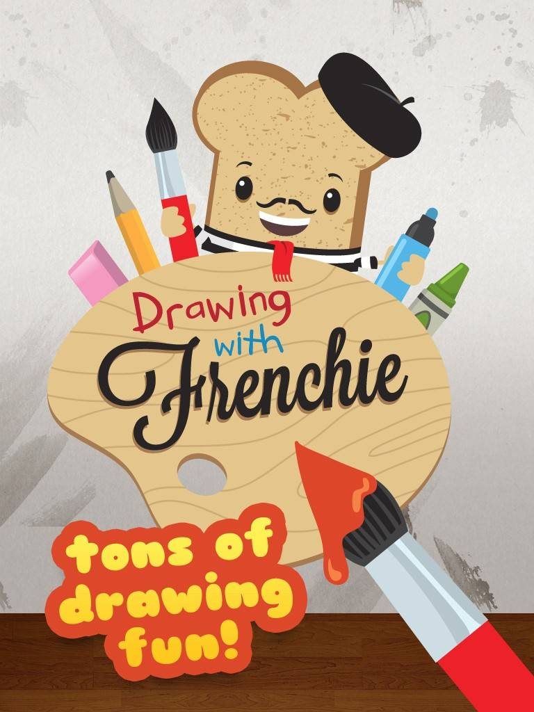 Frenchie DrawsFrenchie and his breakfast friends will help your child explore his/her creativity. The app offers 18 colors, six drawing utensils, 13 backgrounds, and many fun drawing prompts and activities for your child. Ages: 5 and underCost: $1.99
