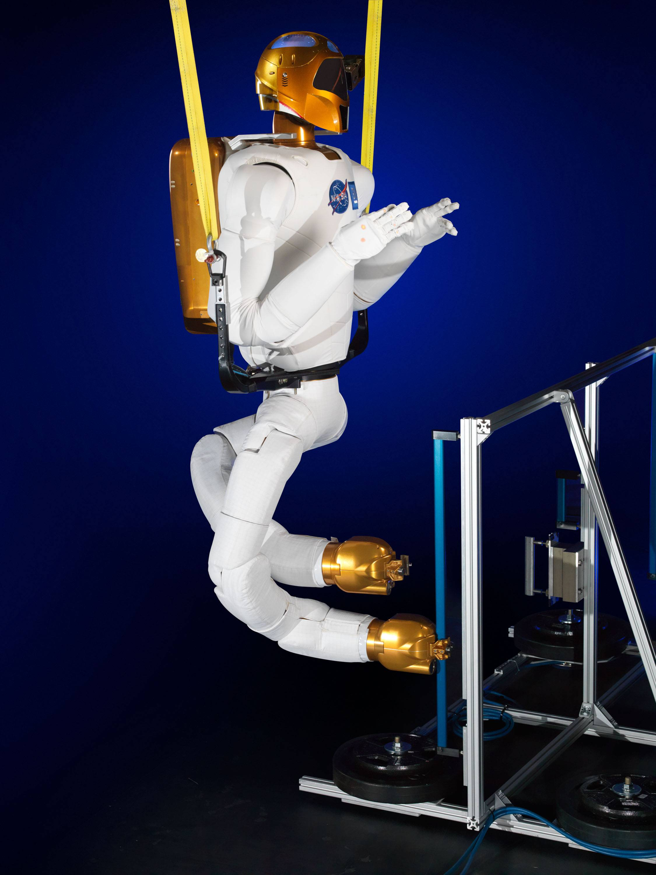 The Robonaut with legs at a lab in Houston.