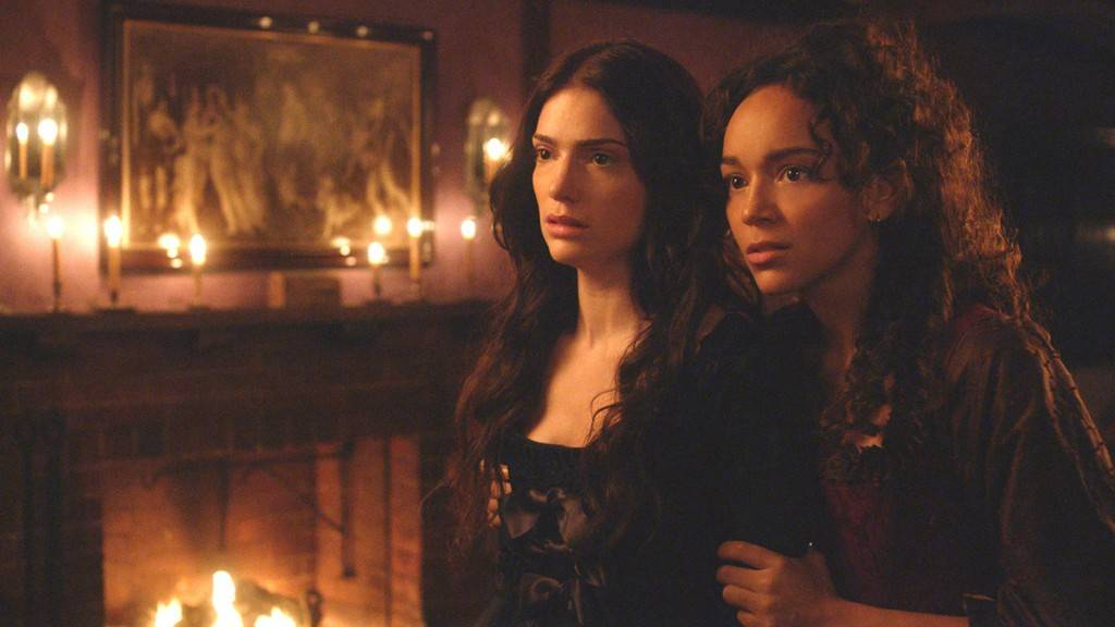 "Janet Montgomery, left, plays Mary Sibley, and Ashley Madekwe is Tituba in WGN America's new series, ""Salem,"" which premieres at 9 p.m. Sunday. The drama is set in Massachusetts in 1692, the period of the real-life Salem witch trials."
