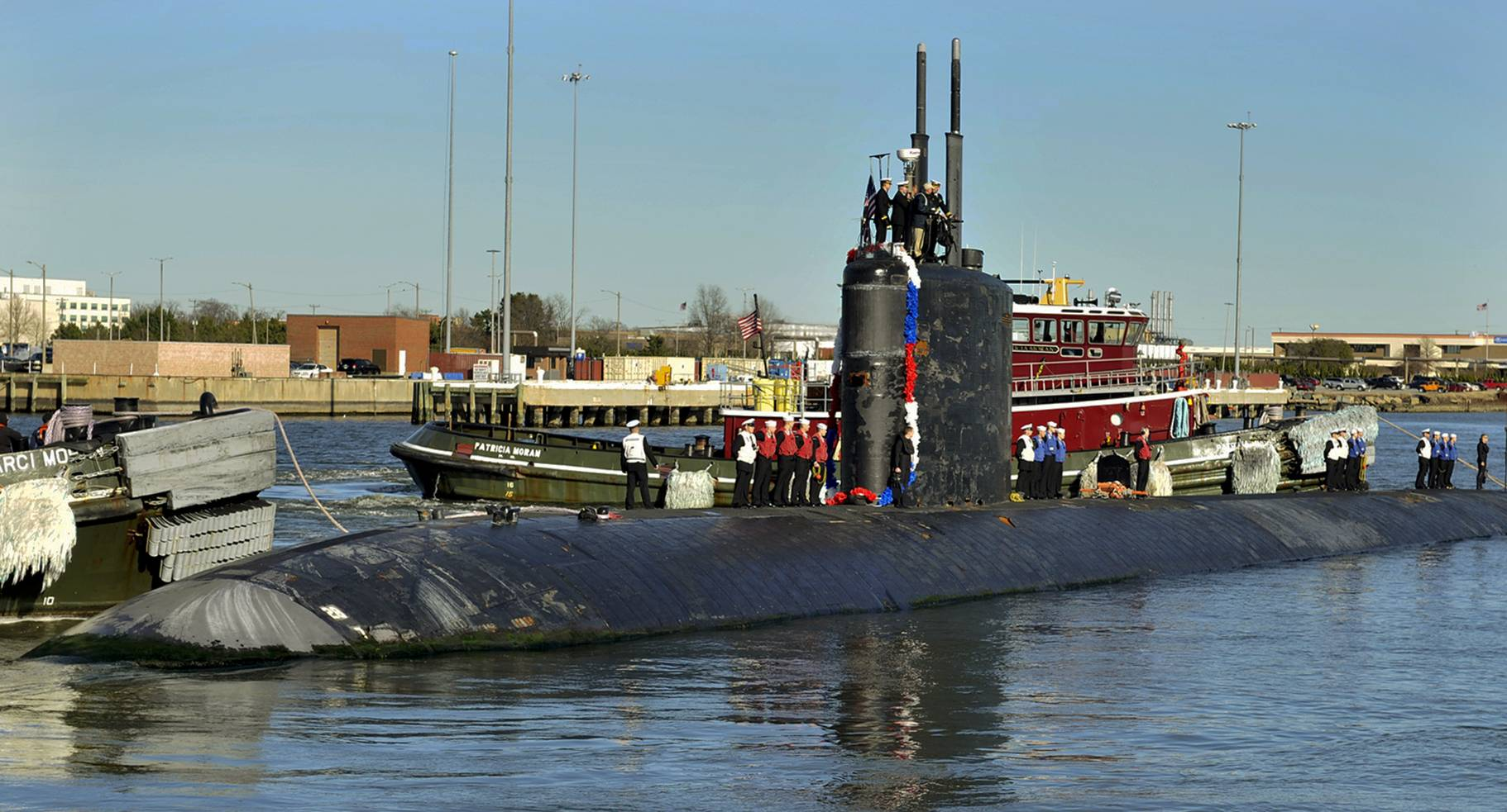 The Los Angeles-class attack submarine USS Scranton returns to Naval Station Norfolk, Va., from a regularly scheduled deployment. Scientists have concluded submarine sailors, who traditionally begin a new workday every 18 hours, show less fatigue on a 24-hour schedule.