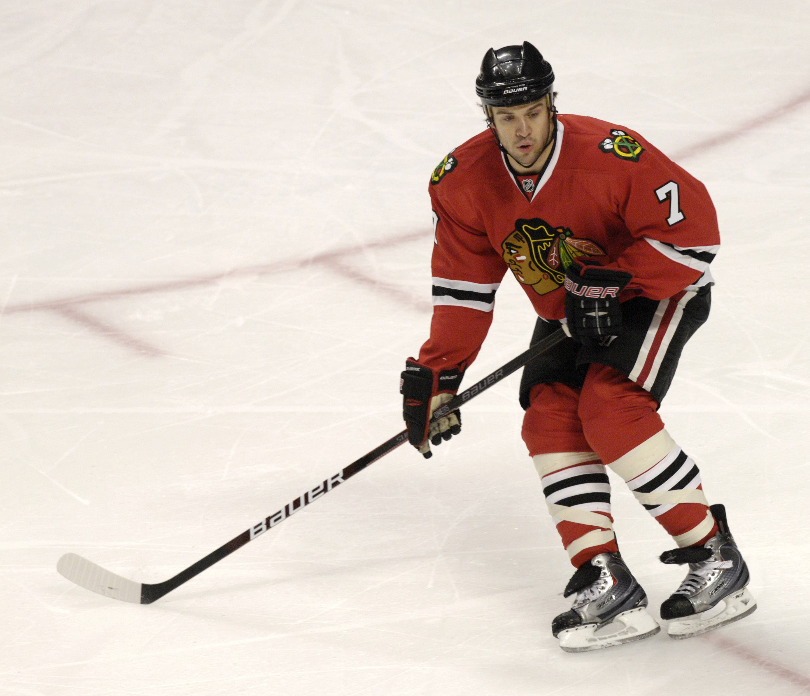 Brent Seabrook has been suspended three games by the NHL for an illegal hit to the St. Louis Blues' David Backes during Saturday's playoff game.