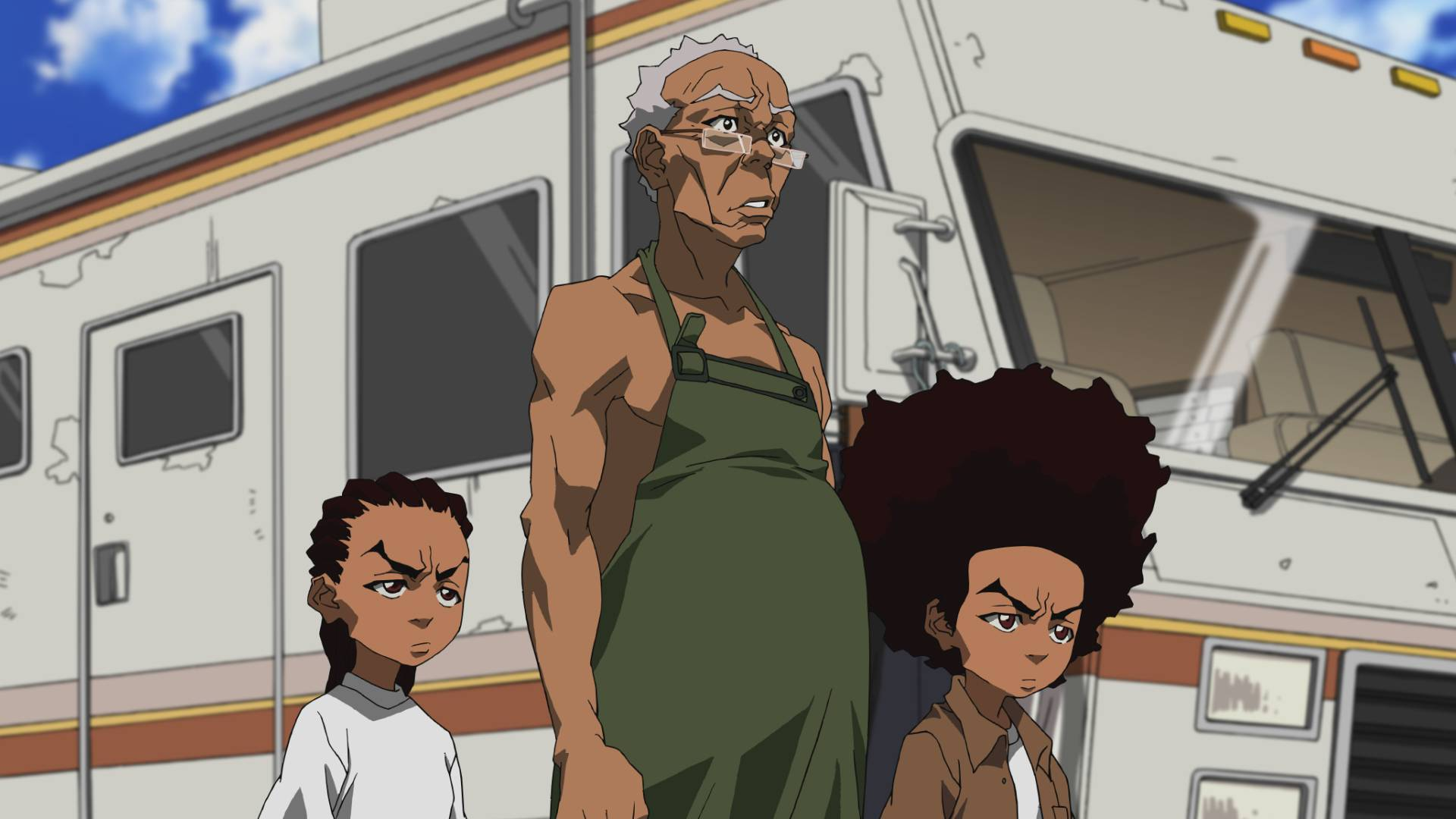 "Riley, Granddad and Huey return in ""Breaking Granddad,"" an episode of new season of ""The Boondocks,"" airing Monday, April 21 on Adult Swim."