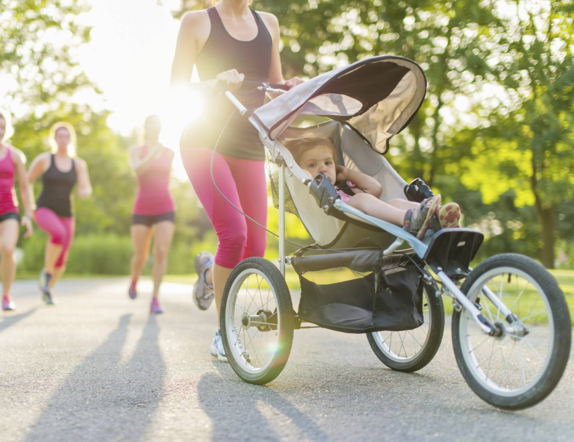 Many busy parents use a jogging stroller to still get in their workouts.
