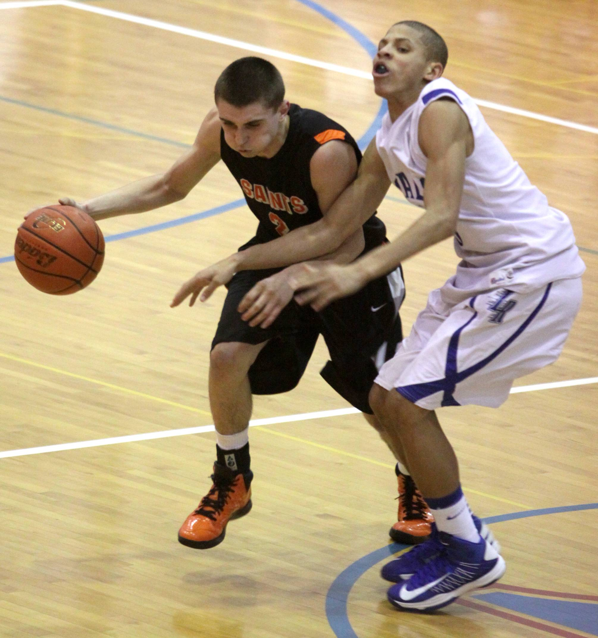 St. Charles East's Dom Adduci, left, will continue playing in college in the Missouri Valley Conference at Drake.