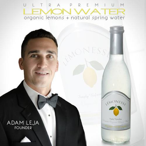 Adam Leja with his new non-alcoholic drink, Lemonesse.