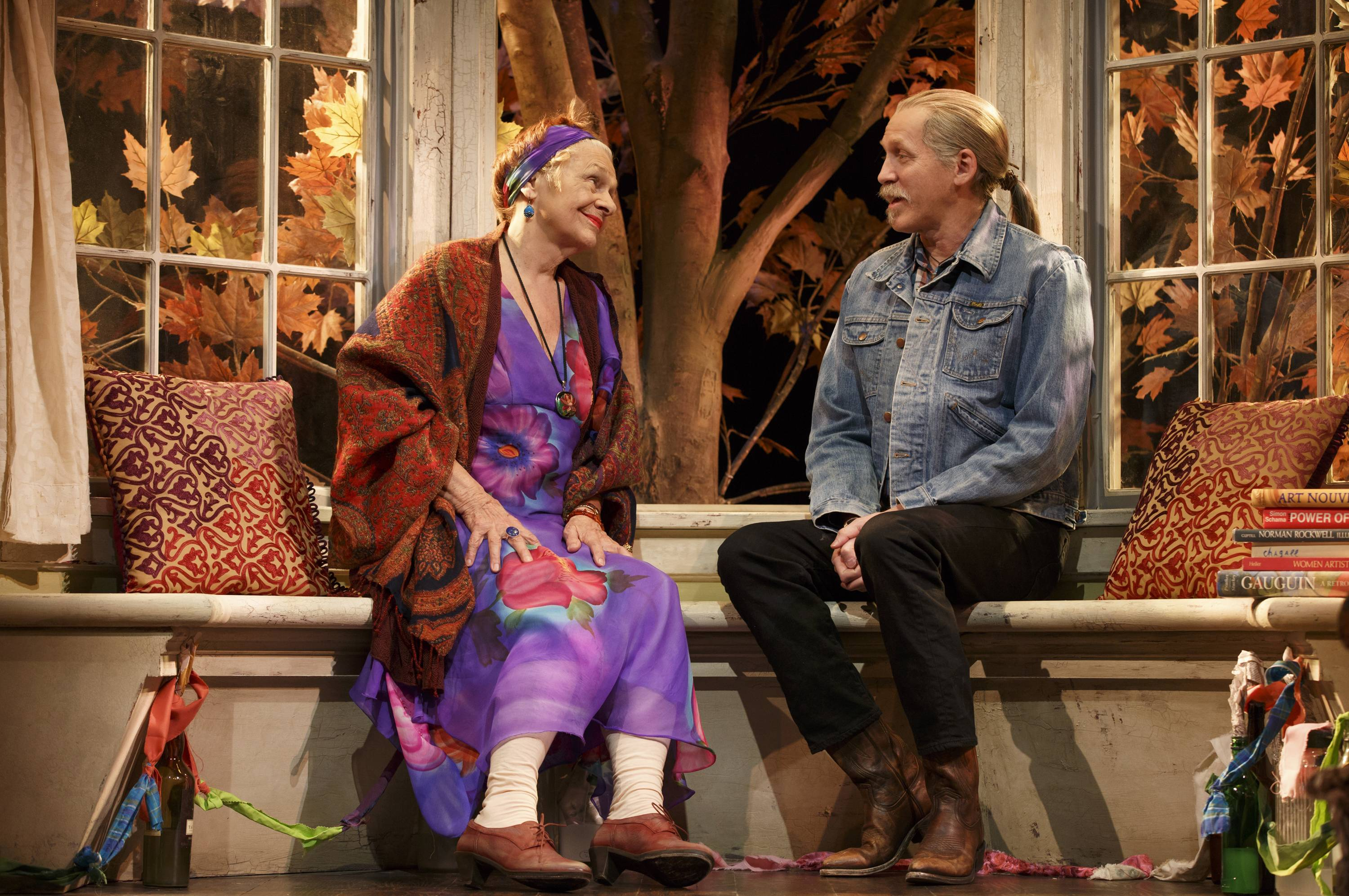 "Estelle Parsons, left, and Stephen Spinella perform in ""The Velocity of Autumn,"" at the Booth Theatre in New York."