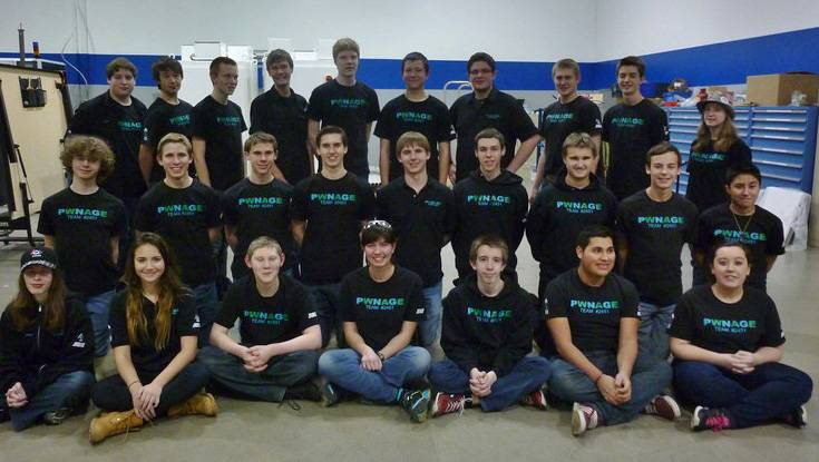 Team PWNAGE Robotics won the FIRST FRC Midwest Regional competition April 5 at the UIC Pavilion, Chicago.