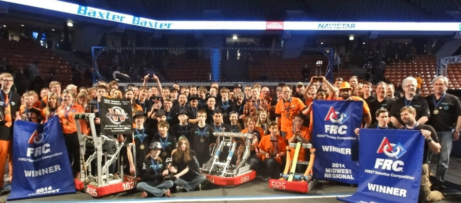 Team PWNAGE Robotics won the FIRST FRC Midwest Regional competition in April in Chicago.