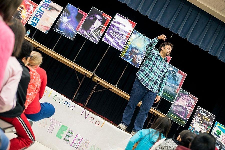 'Unwind' series author visits Grove Junior High