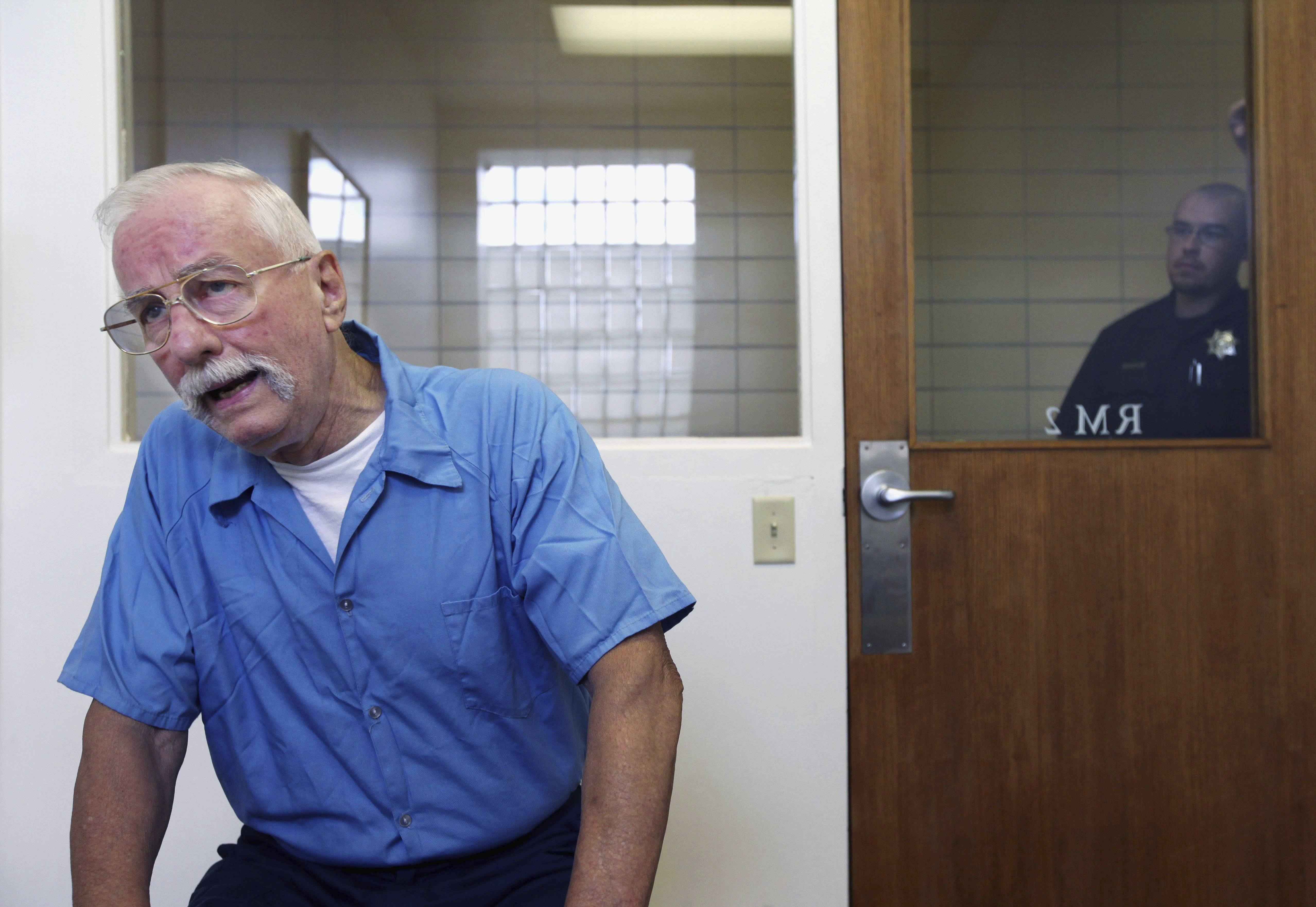 Jack McCullough, a 73-year-old former police officer, speaks during an interview last August with the Chicago Sun-Times at the Pontiac Correctional Center. He's serving a life sentence for the 1957 death of 7-year-old Maria Ridulph.