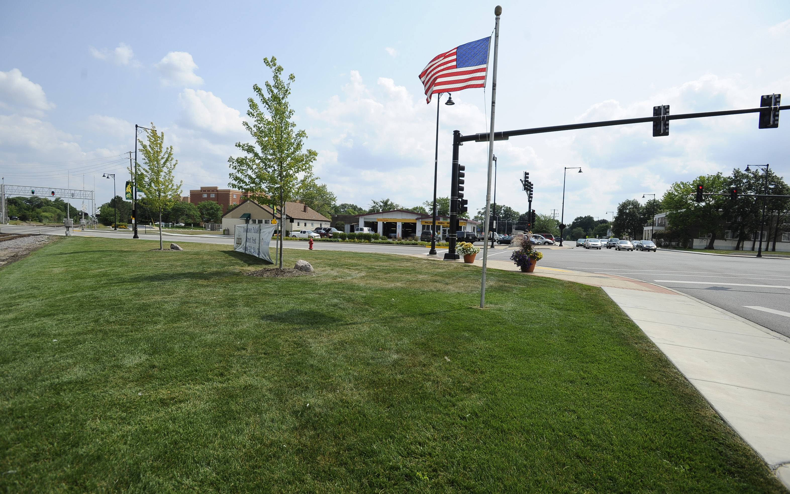 Rotary Plaza is at Palatine and Plum Grove roads, in Palatine.