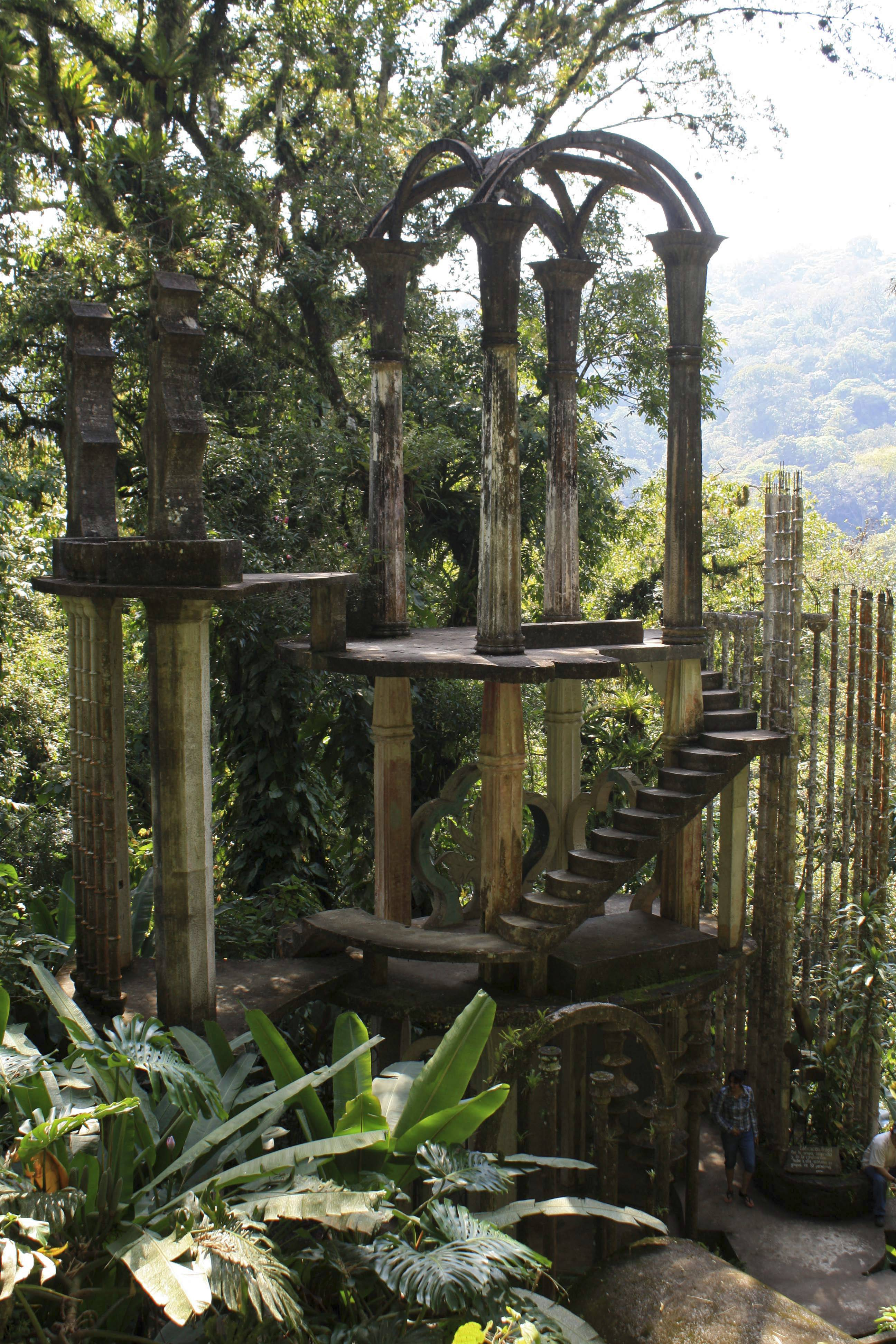 The late Edward James, a British multimillionaire and arts patron, created Las Pozas. He liked to think that future archaeologists would discover his lost city and wonder what kind of civilization had built it, said Carlos Barbosa, a park guide.