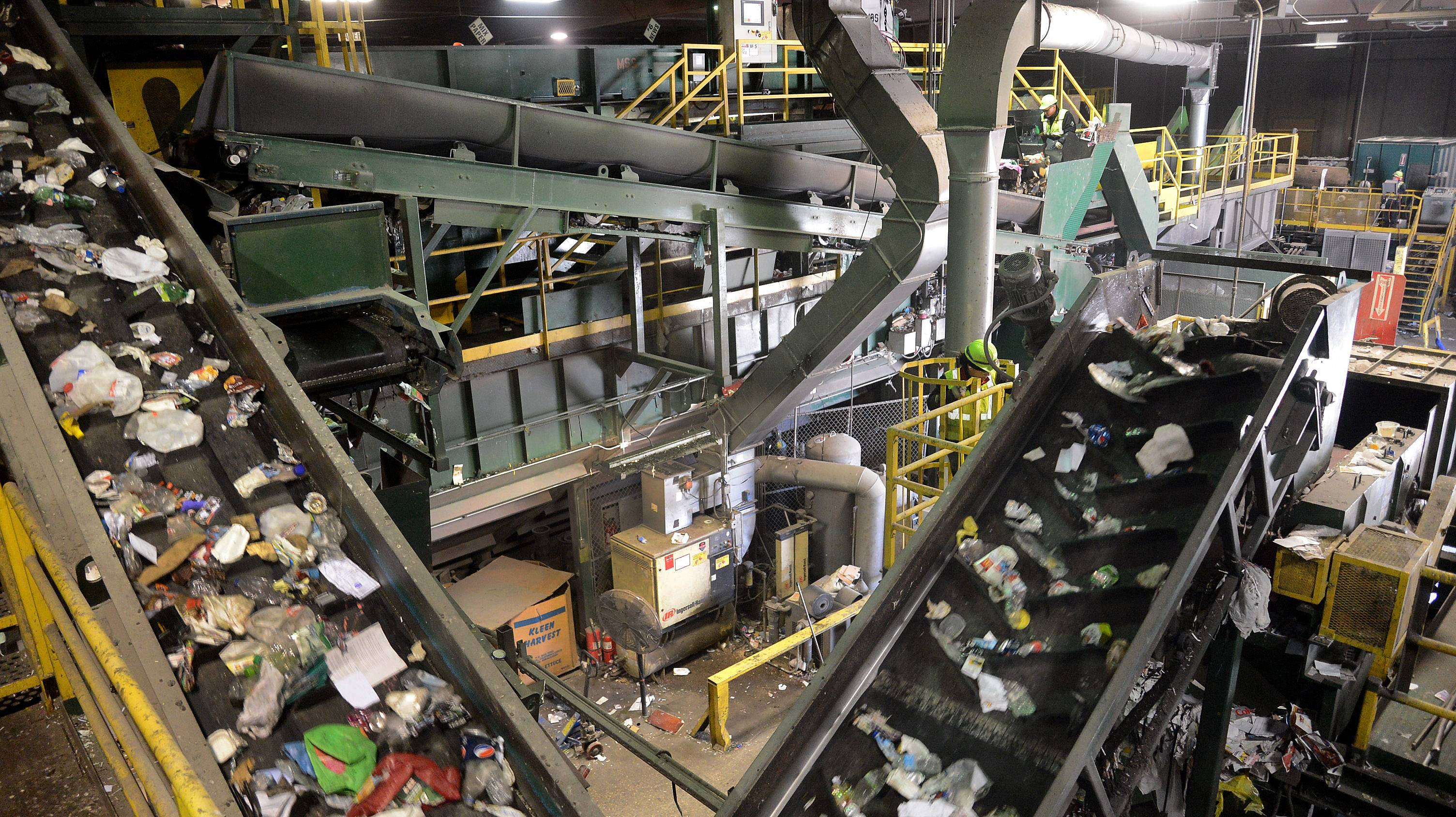 Waste Management Recycle America Lake County Processing Facility in Grayslake.