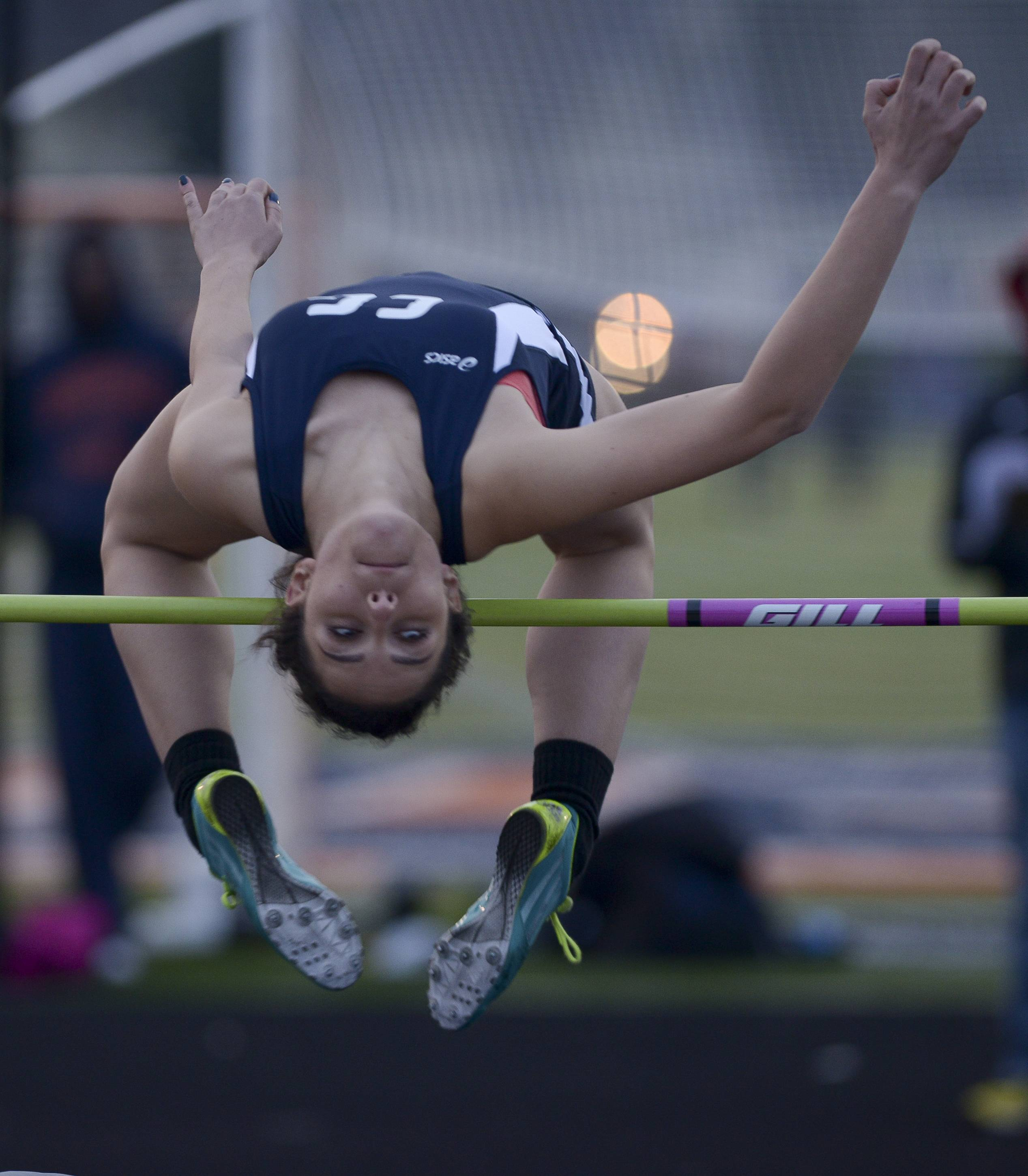 Cary-Grove's Bobbie Buerer competes in the high jump during the Gus Scott Track and Field Invitational at Naperville North on Thursday.