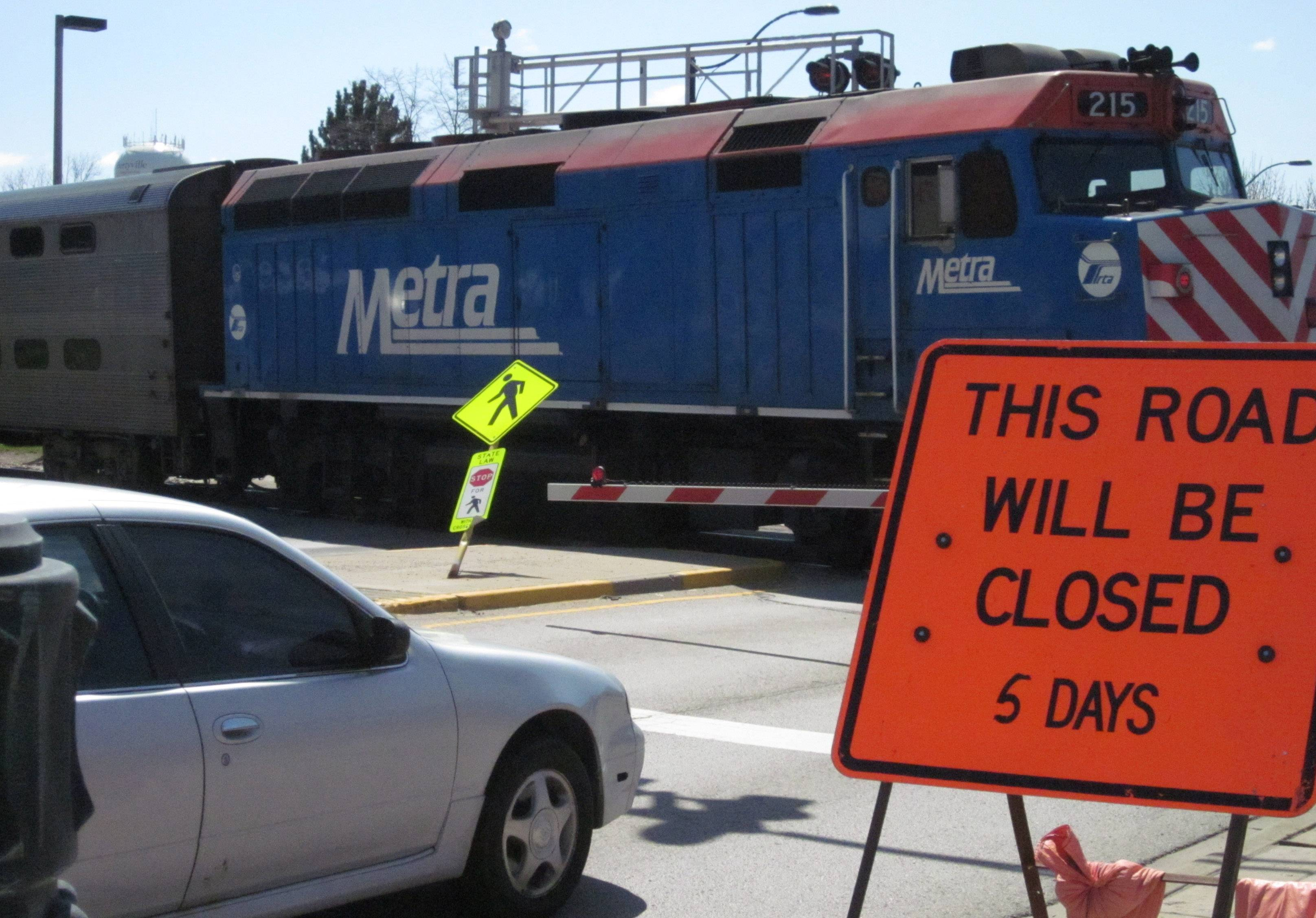 Busy Milwaukee Avenue in downtown Libertyville is scheduled to be closed for five days beginning May 2 so Metra can replace the commuter rail crossing.