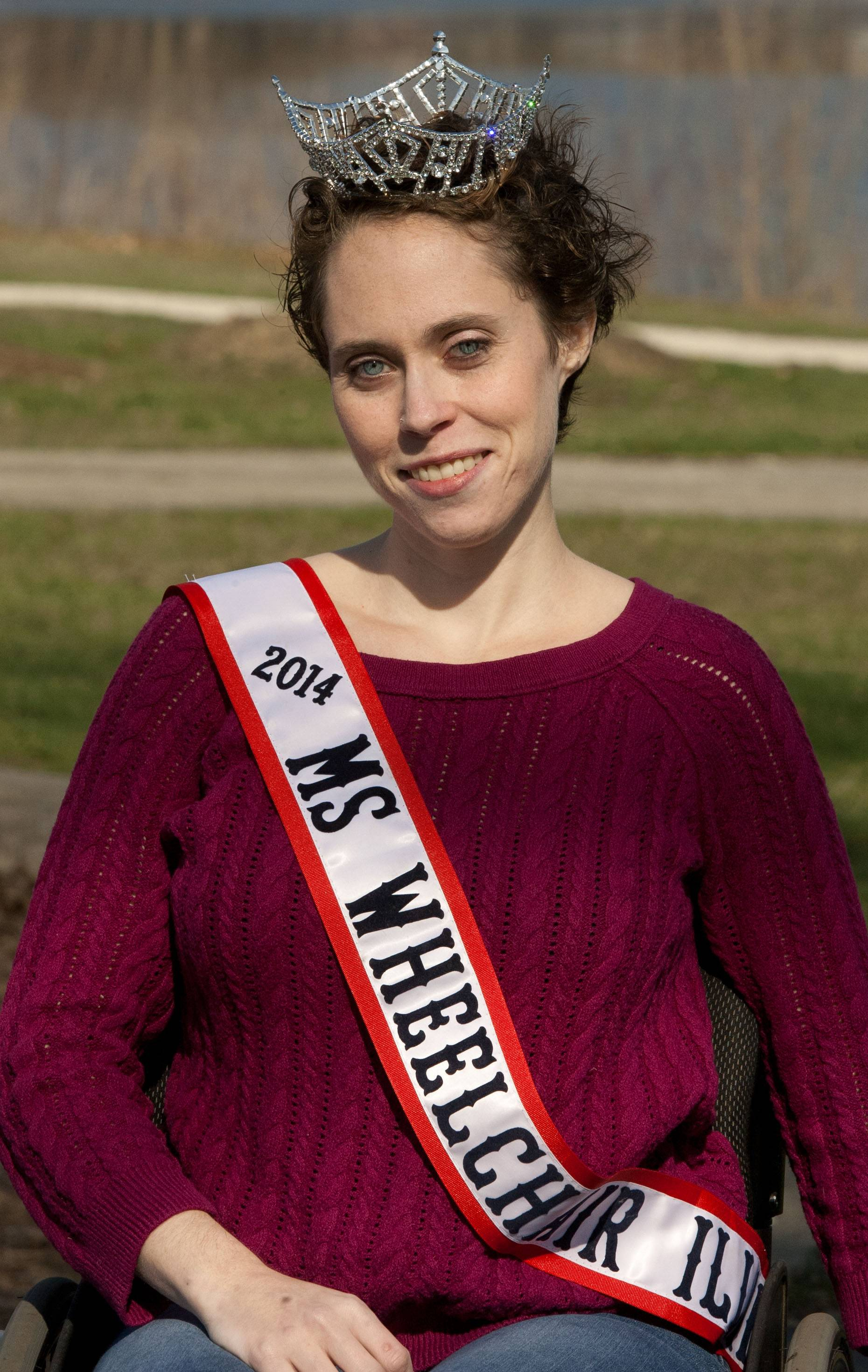 Pearl Gannon, a Lombard native, recently was named Ms. Wheelchair Illinois. The 27-year-old hopes to raise awareness about mental health for the disabled population.