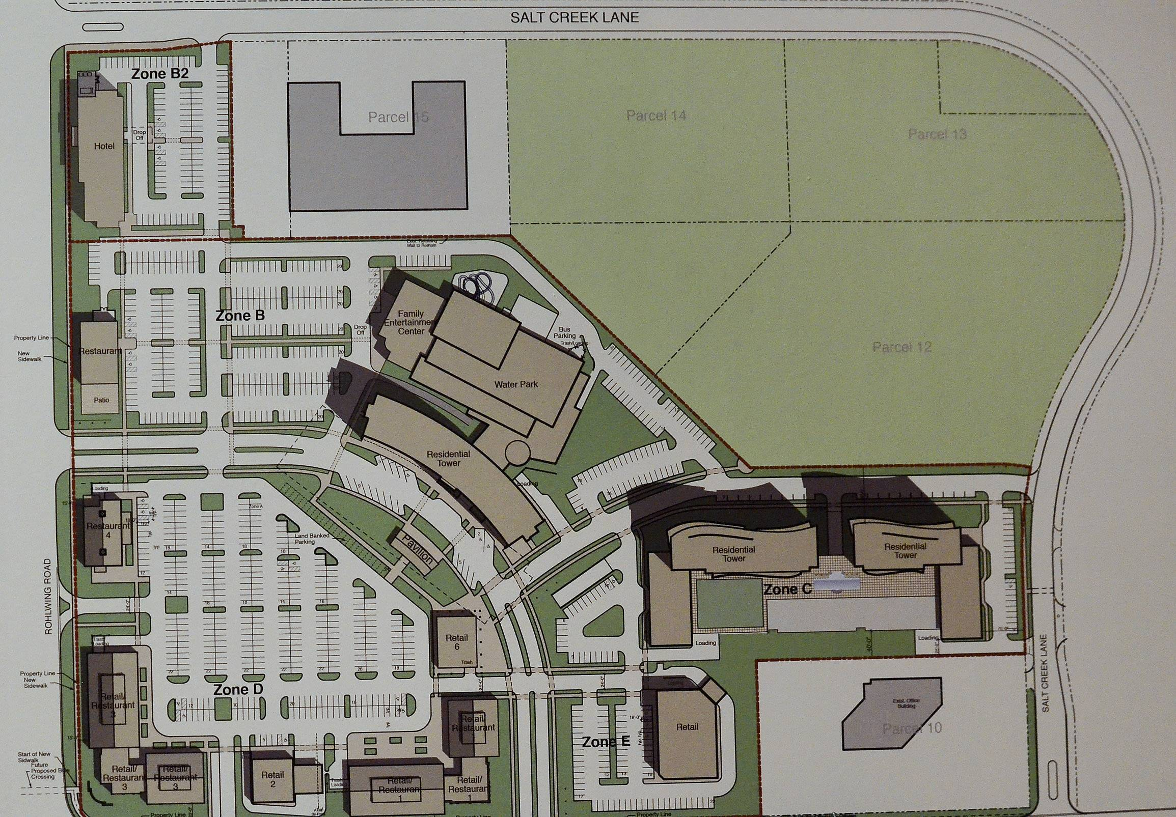 A layout of the Arlington Downs project.