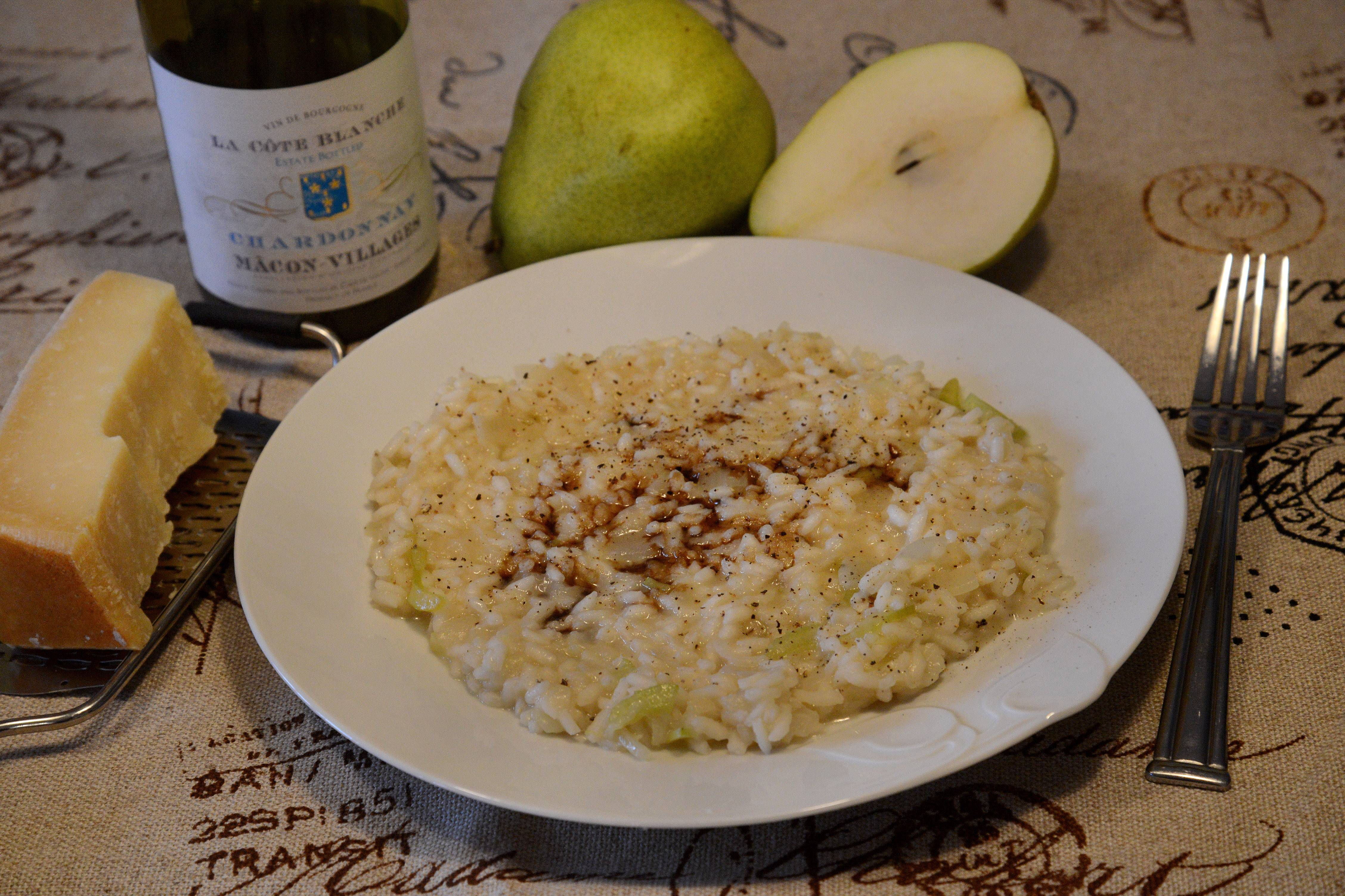 Pears and cracked pepper add a unique dimension to risotto as Penny Kazmier learned at a recent cooking class with Lidia Bastianich.