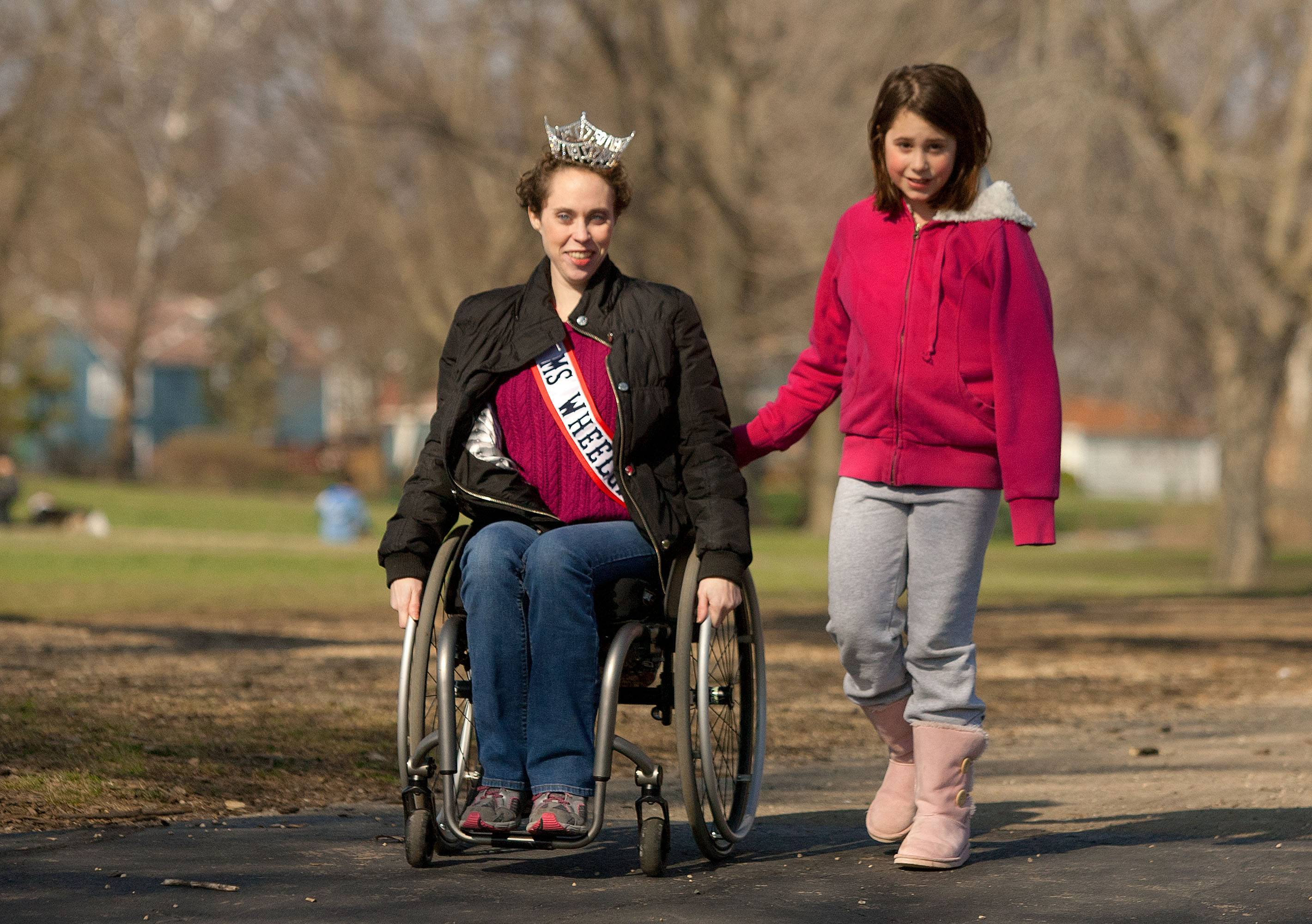 Lombard native Pearl Gannon says her 10-year-old sister Abby is her biggest supporter. Gannon, 27, recently was named Ms. Wheelchair Illinois.