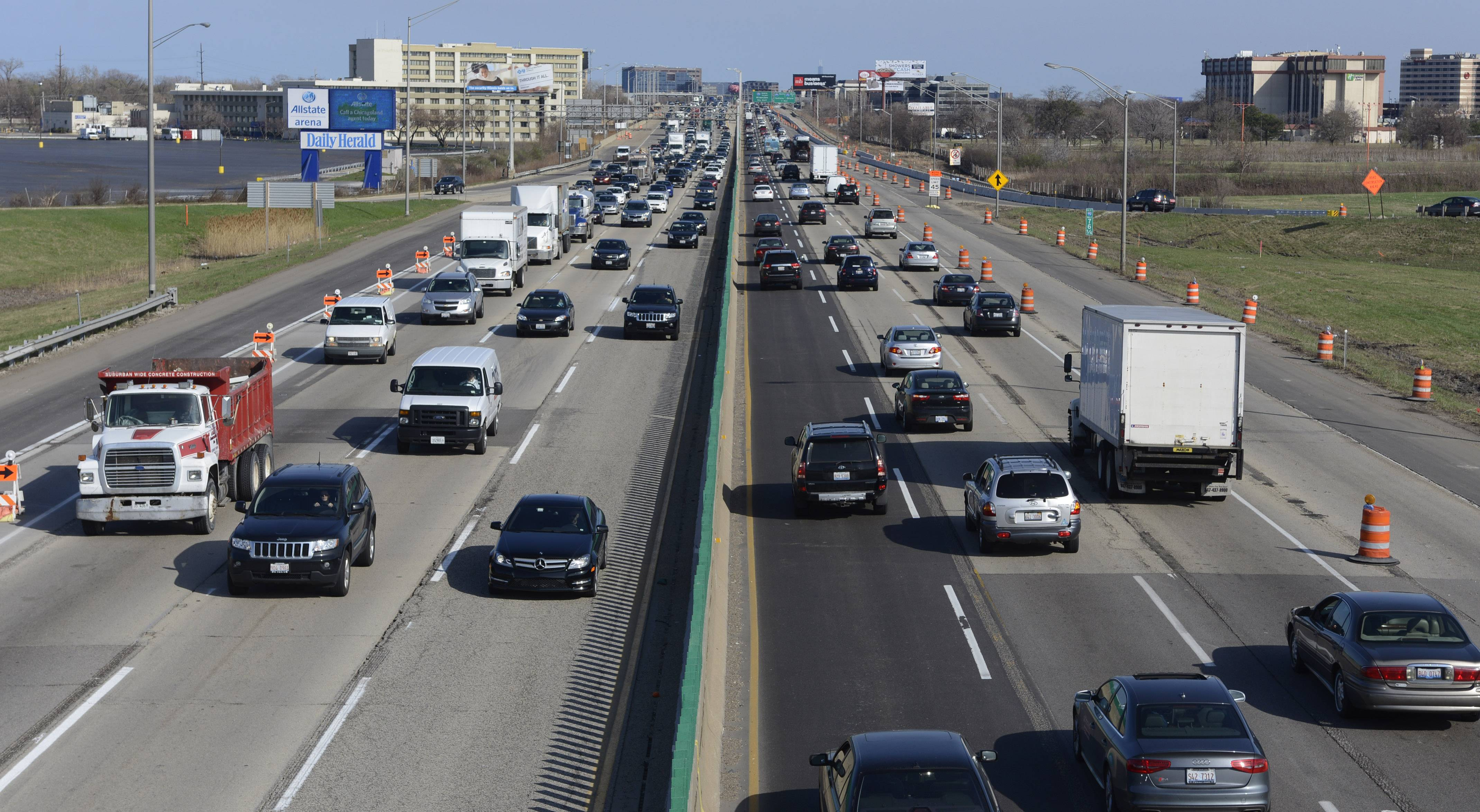 As construction begins on the Lee Street interchange on the Jane Addams Tollway, officials are also proposing an eastbound exit be included as part of the project.