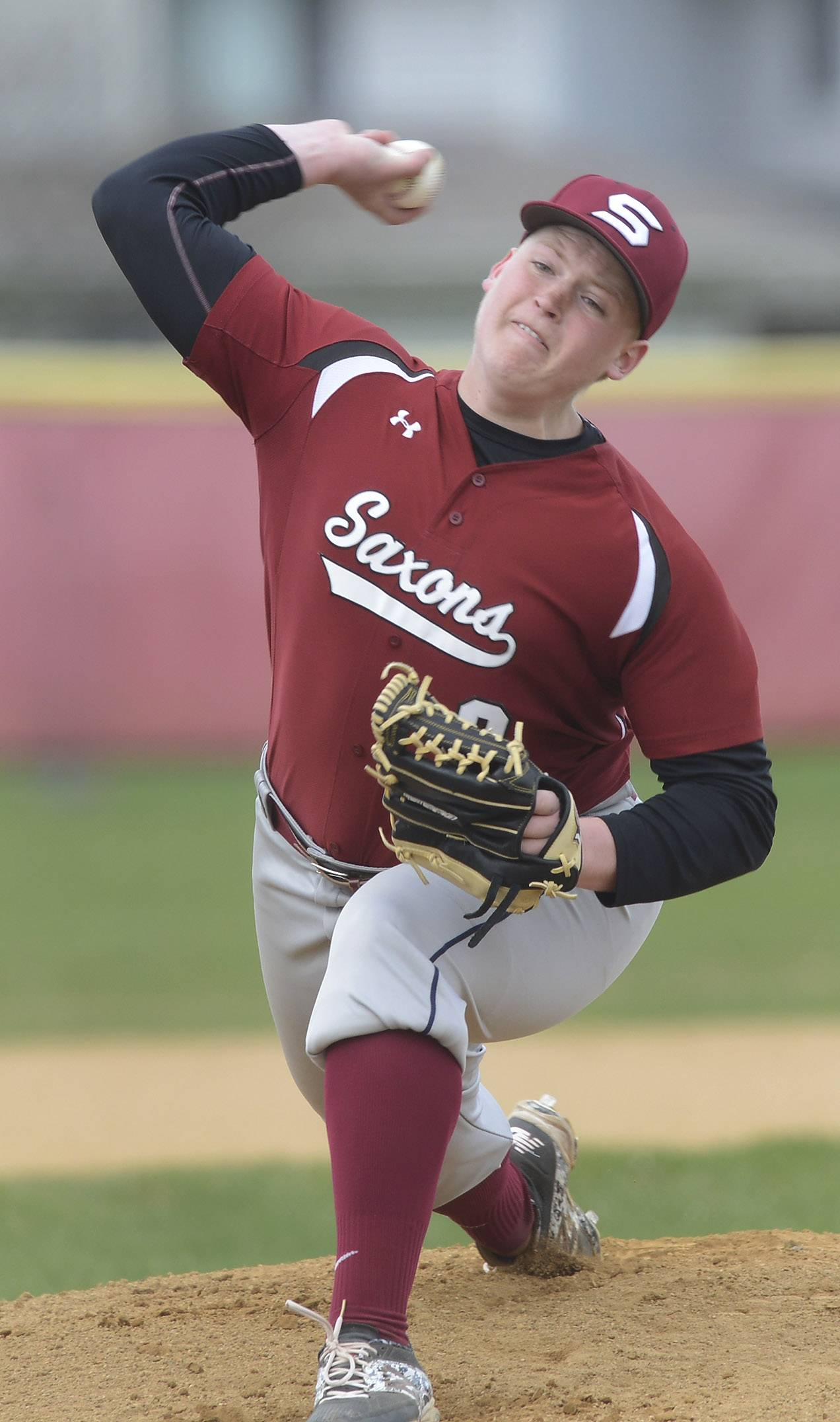 Schaumburg pitcher Brendan Beck delivers to the plate during Wednesday's game against Conant.